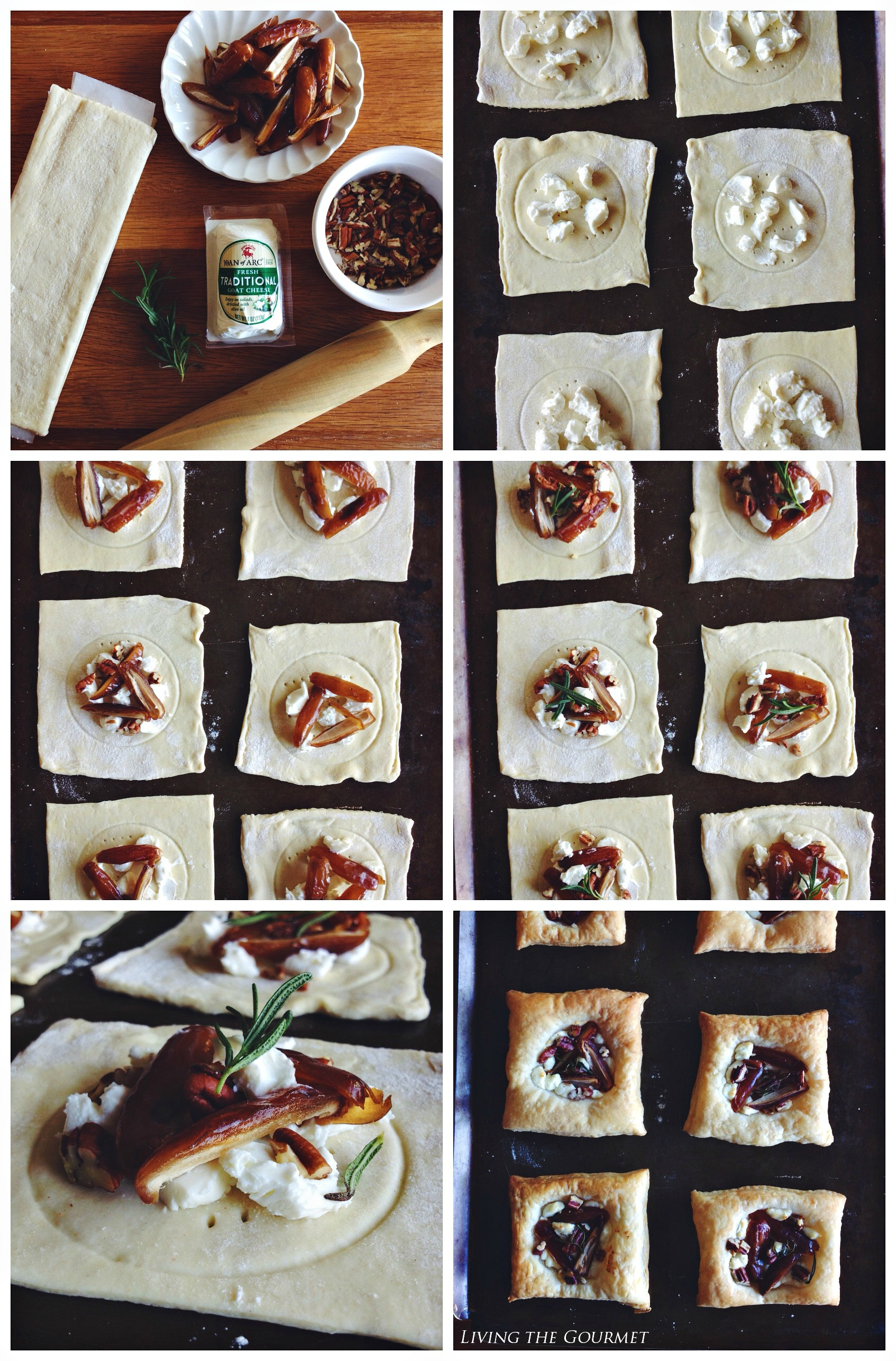 Living the Gourmet: Goat Cheese Tarts & $25 Giveaway