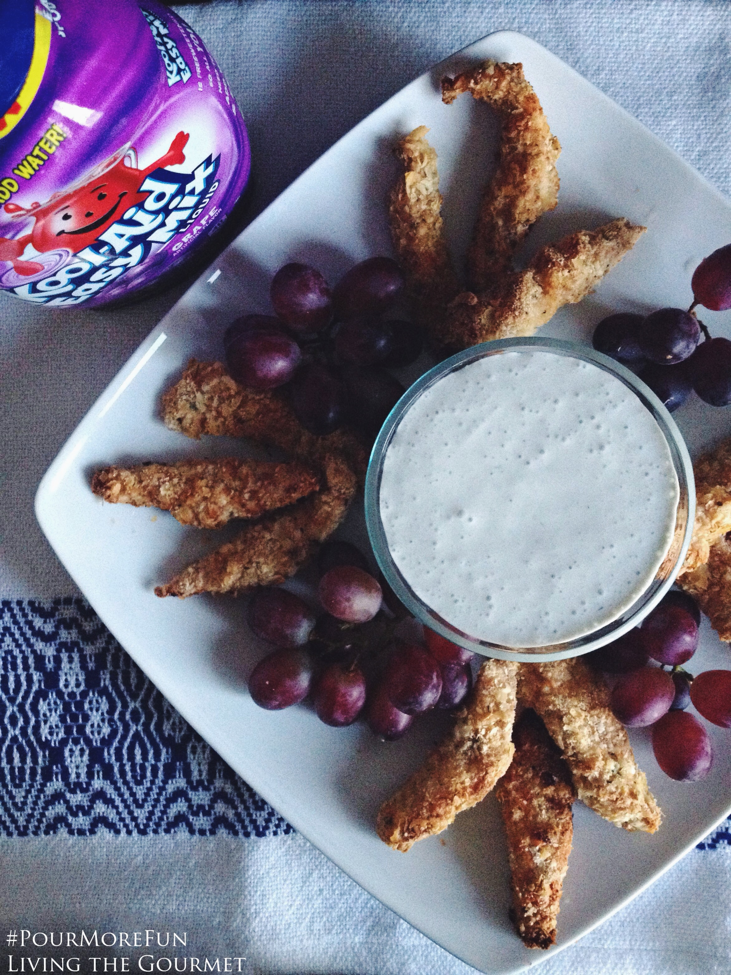 Living the Gourmet: Chicken Tenders w/ Grape Dipping Sauce