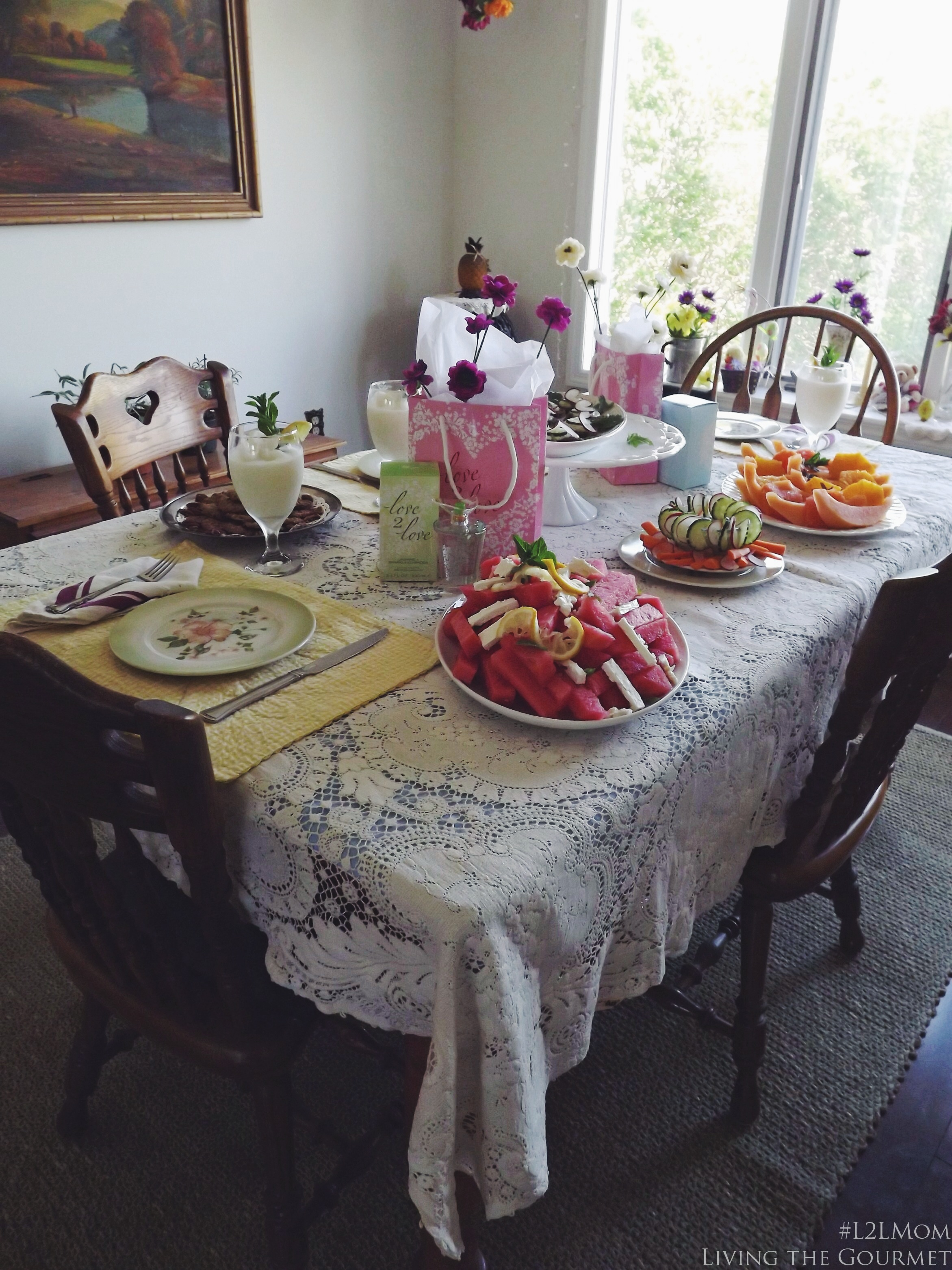 Living the Gourmet:  A Mother's Day Luncheon