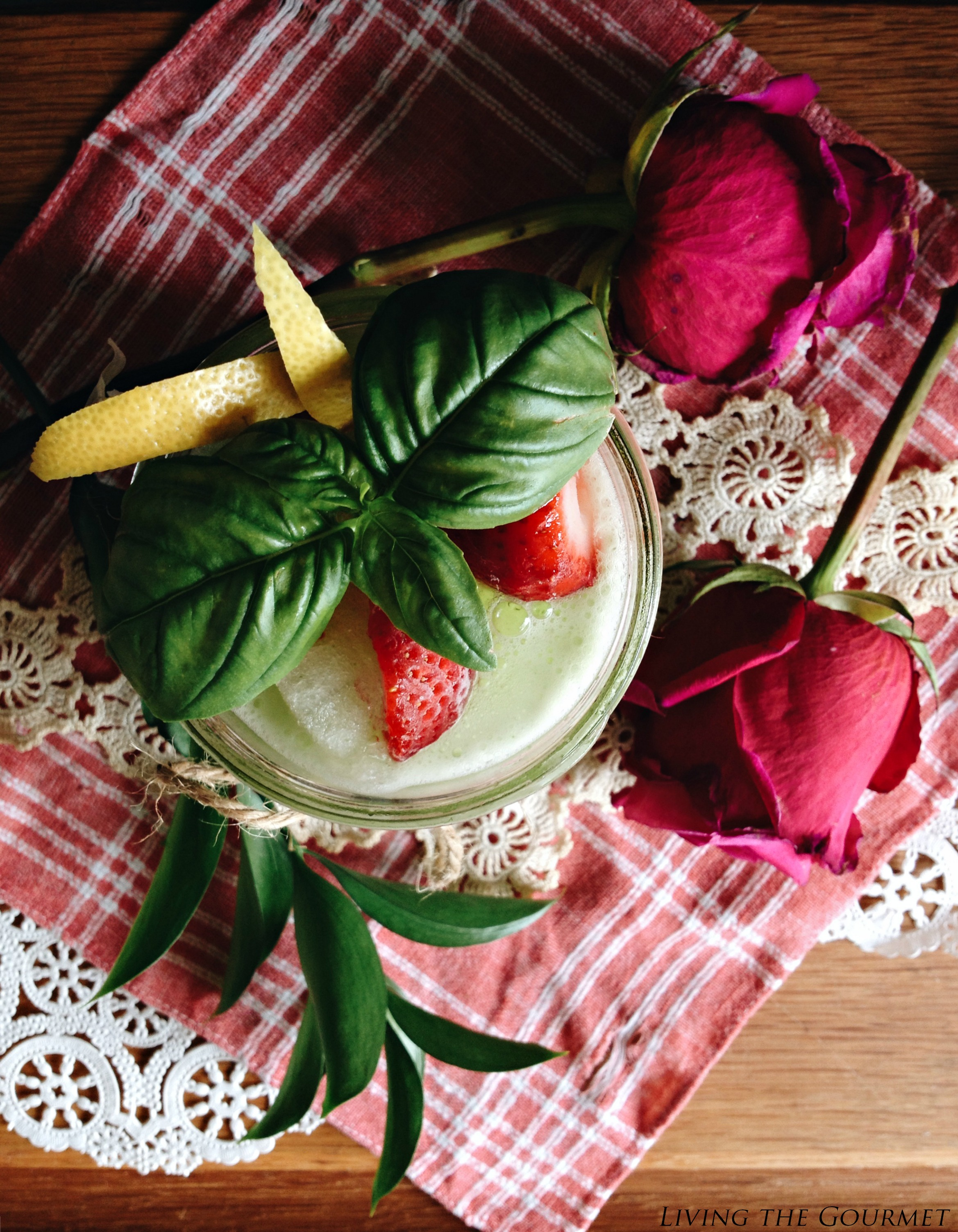 Living the Gourmet: Strawberry Basil Lemonade