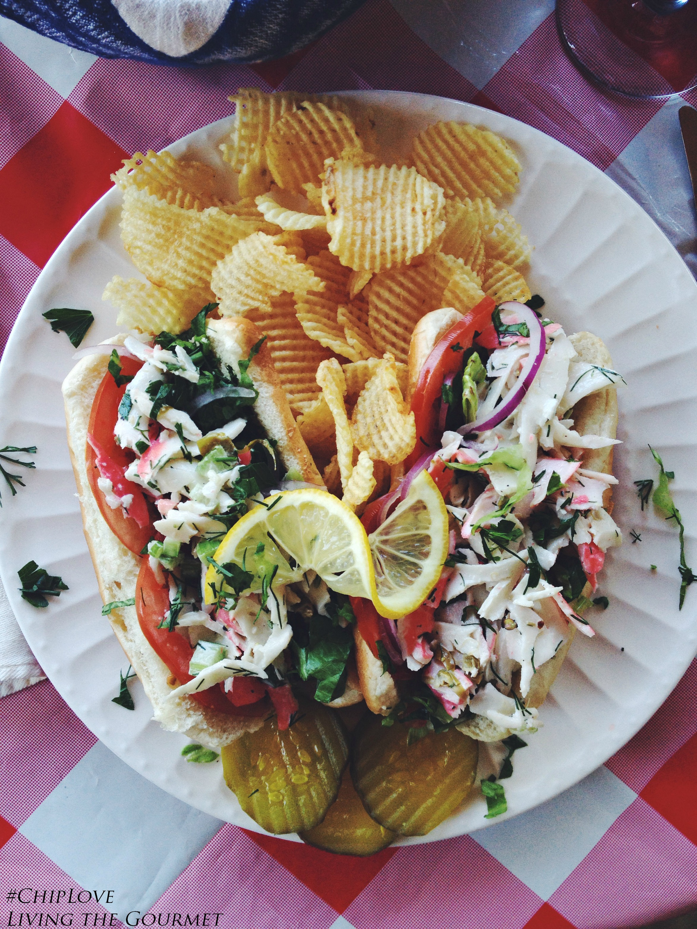 Crab Salad Roll Amp Cape Cod Chips Living The Gourmet