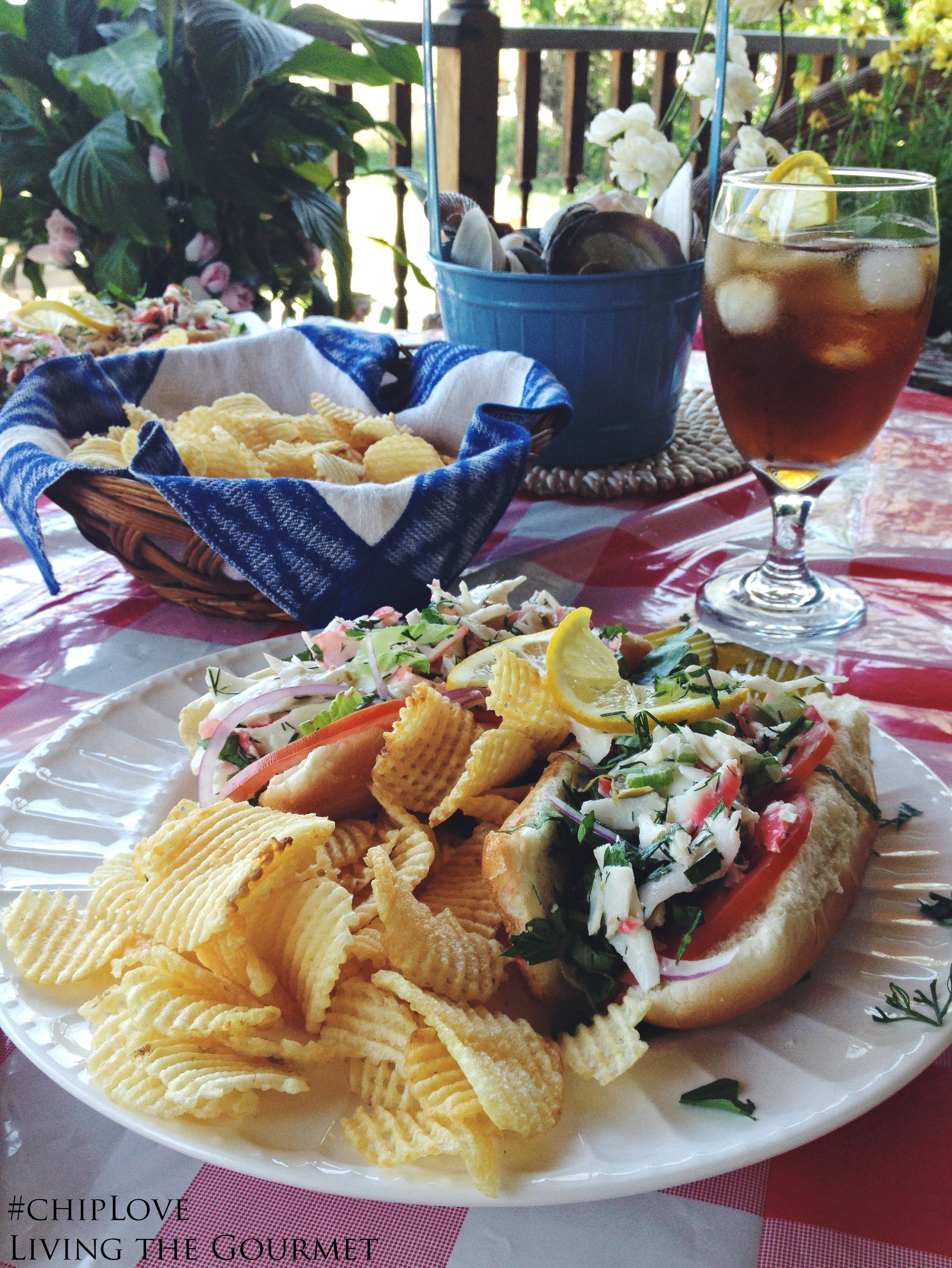 #AD #ChipLove | Living the Gourmet: Crab Salad Roll & Cape Cod Chips