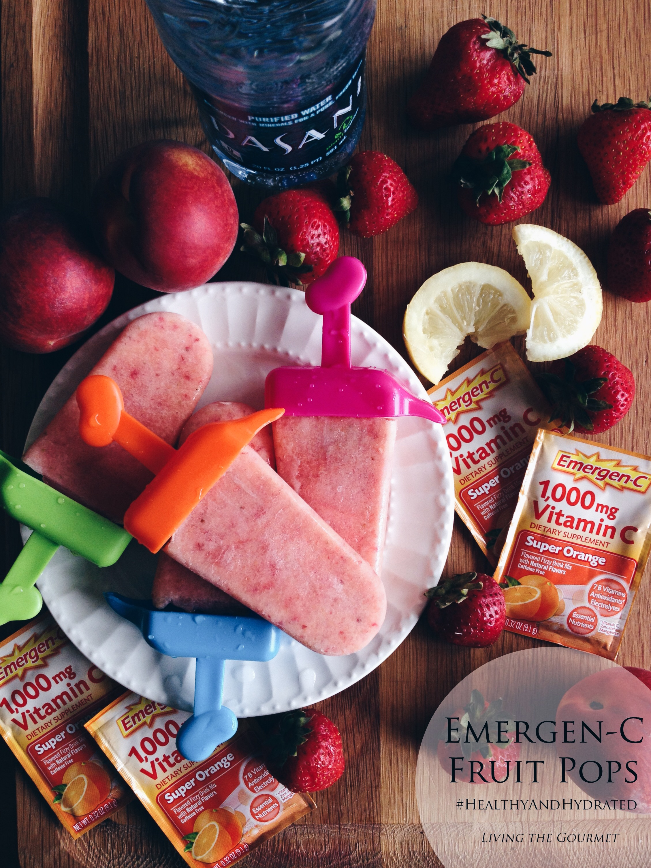 Living the Gourmet: Emergen-C Fruit Pops | #HealthyAndHydrated #Ad