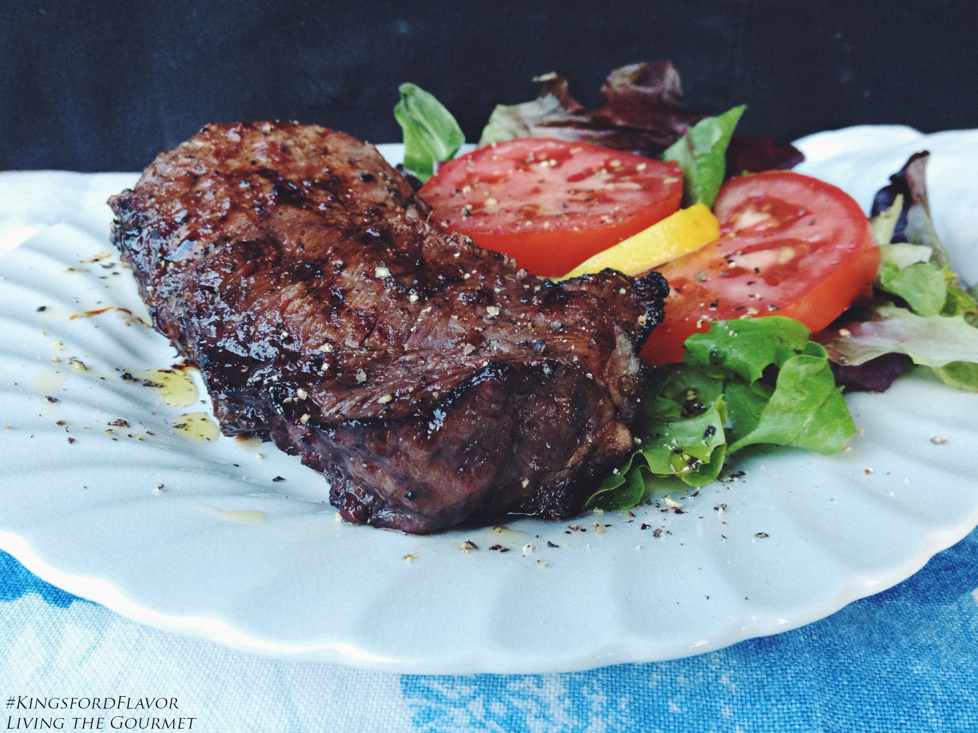 Living the Gourmet: Grilled Orange Marmalade Marinated Steaks | #KingsfordFlavor #Ad