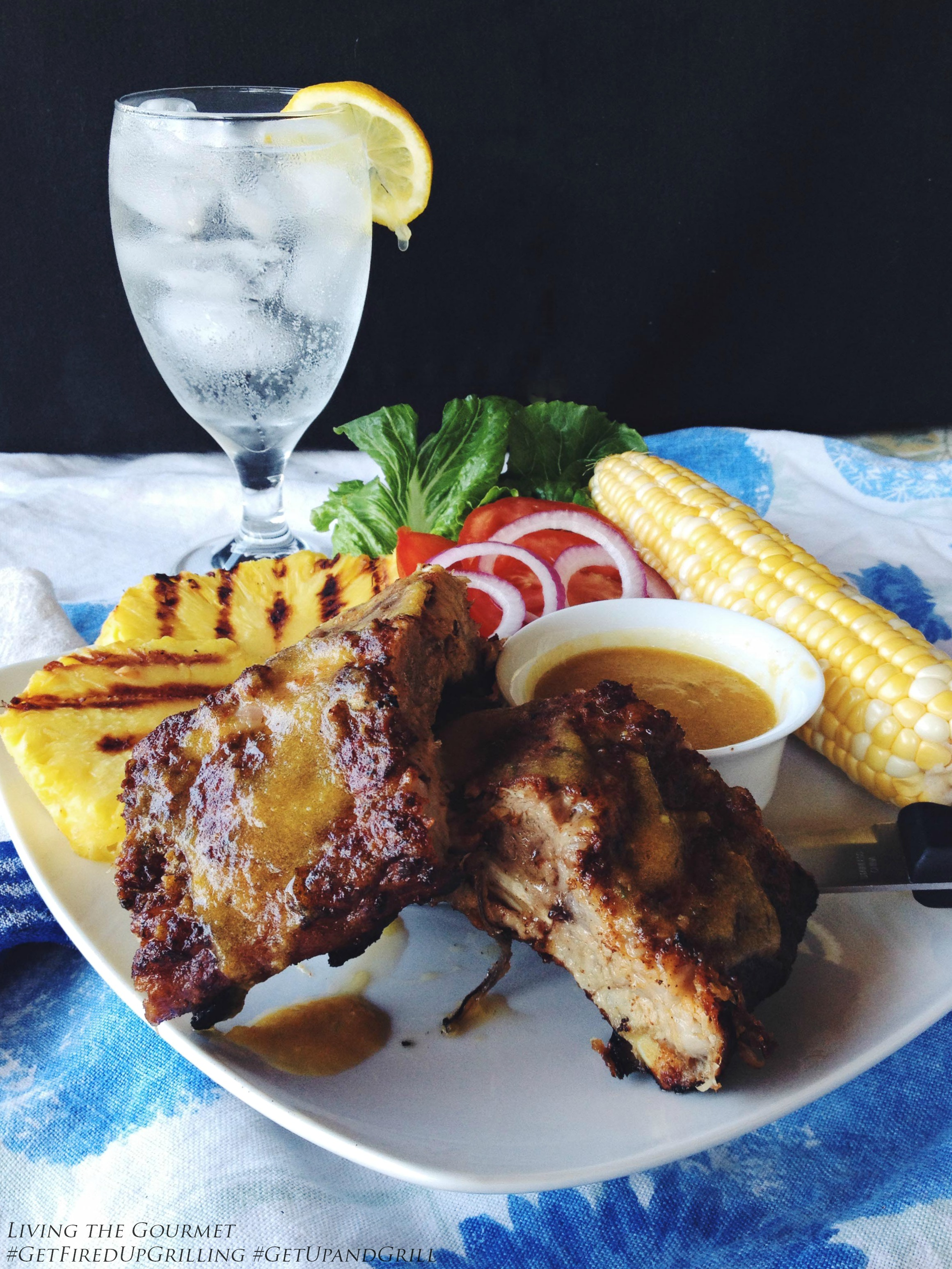 Living the Gourmet: SmithField Baby Back Ribs w/ Brown Sugar Rub & Pineapple Sauce | #GetFiredUpGrilling #GetUpandGrill #WeaveMade #ad