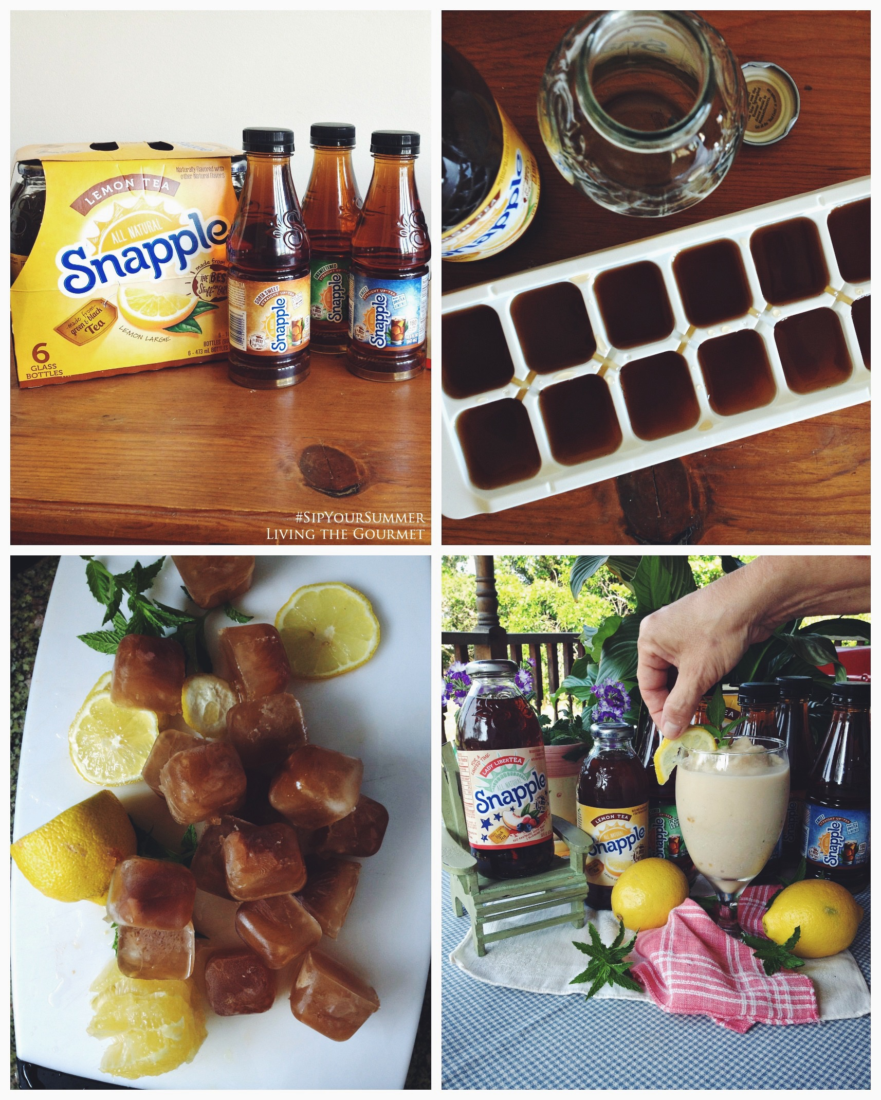 Living the Gourmet: Snapple Lemon Slushy | #SipYourSummer