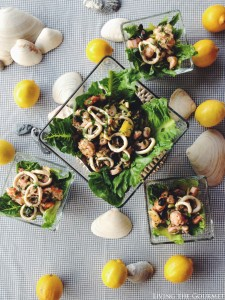Calamari and Shrimp Salad