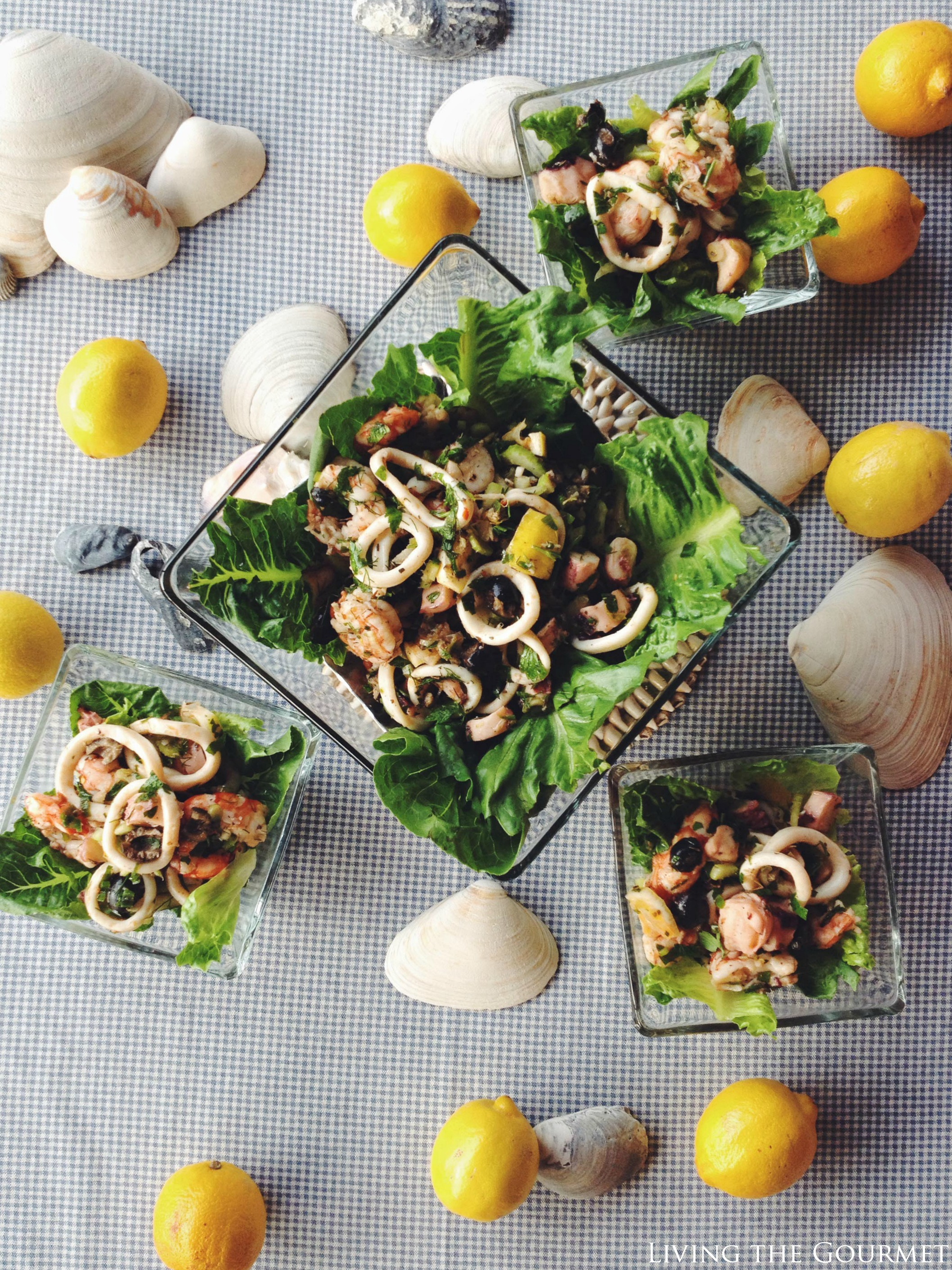 Living the Gourmet: Calamari and Shrimp Salad #AD