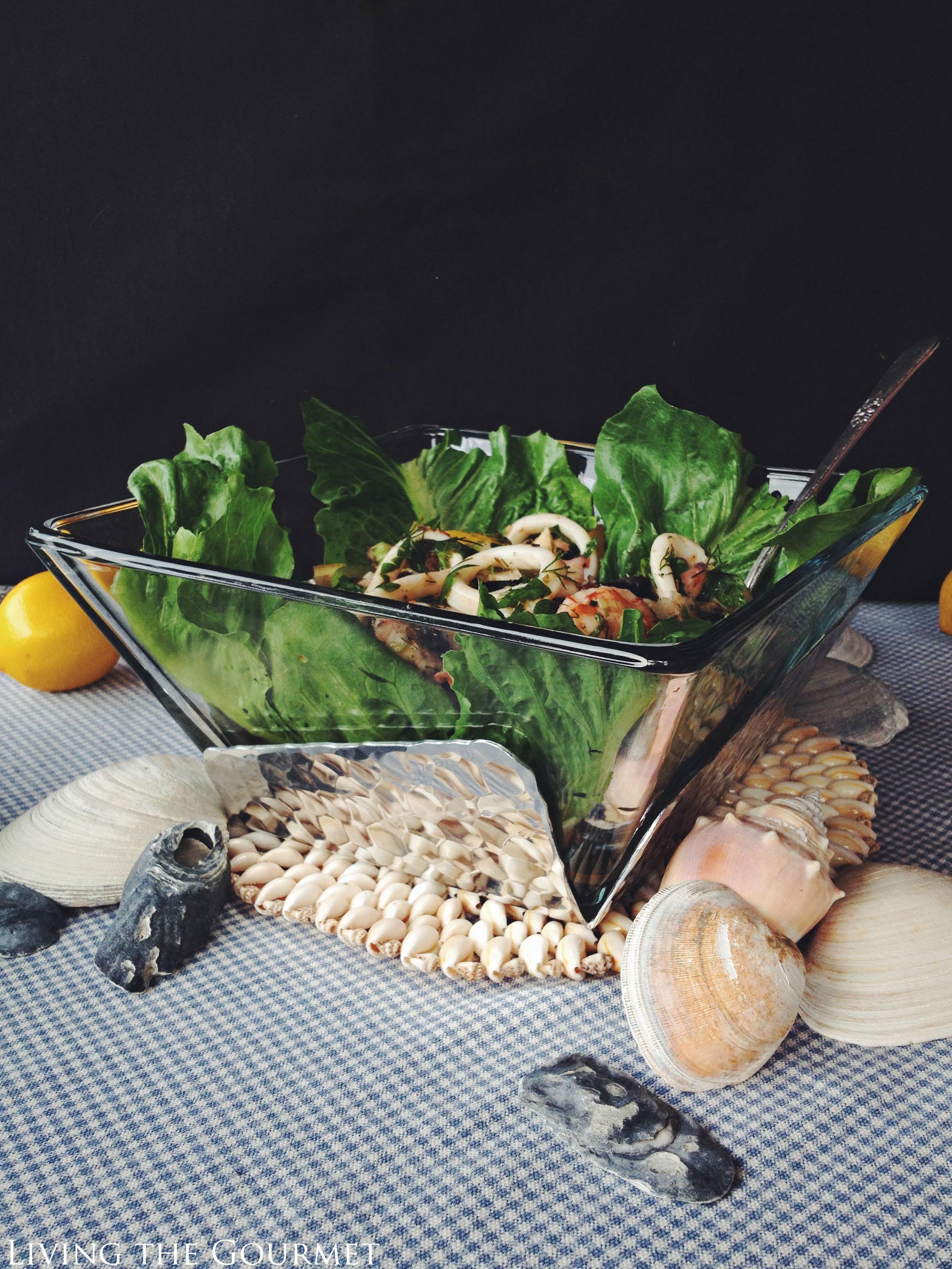 Living the Gourmet: Calamari and Shrimp Salad #AD