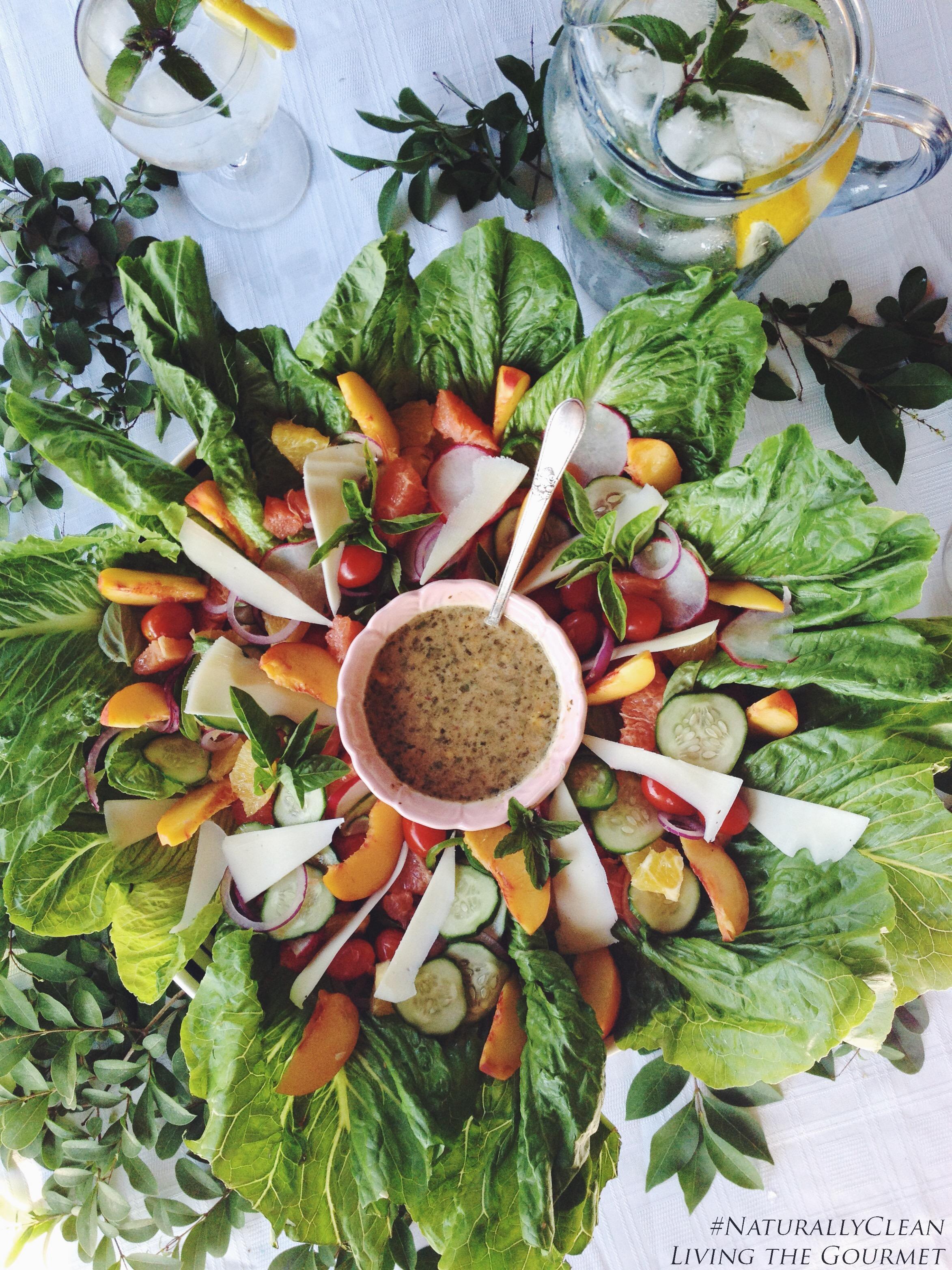 Living the Gourmet: Fresh Citrus Salad with Balsamic Honey Vinaigrette Dressing | #NaturallyClean #Ad