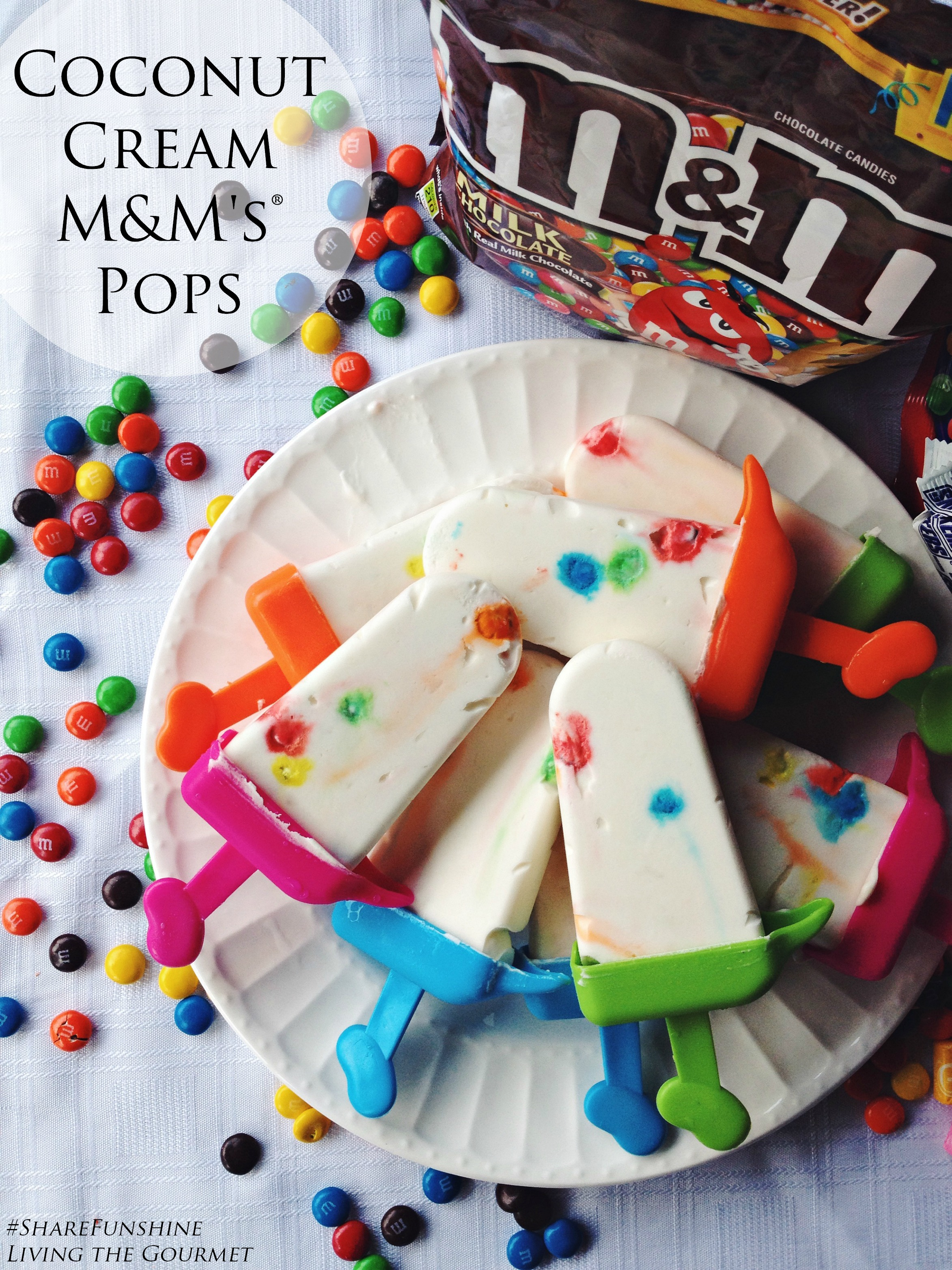 Living the Gourmet: Coconut Cream M&M's Pops | #ShareFunshine #Ad