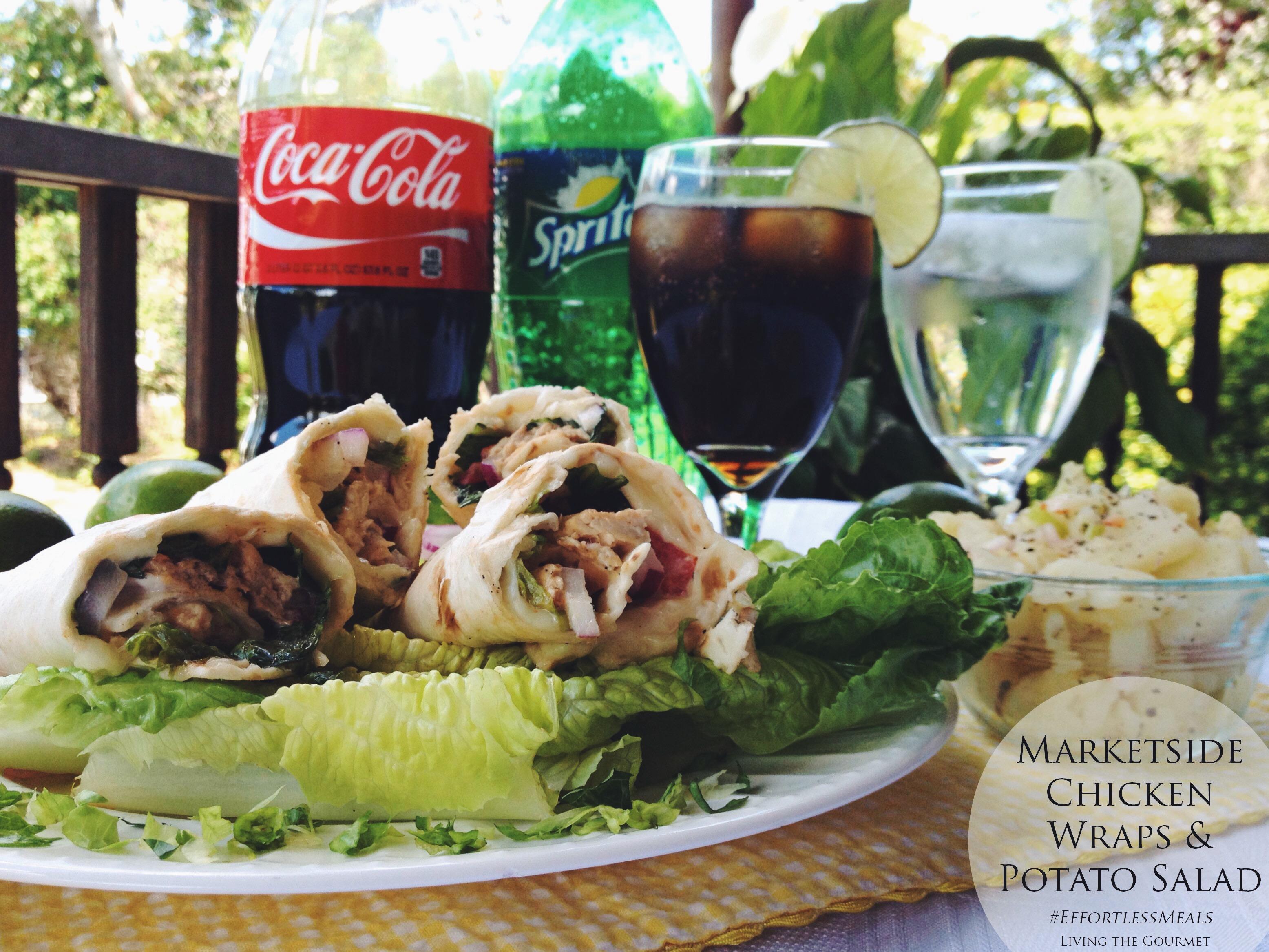 Living the Gourmet: Marketside Chicken Wraps & Potato Salad | #EffortlessMeals #Ad