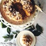 Peach, Date & Pecan Bundt – #BundtBakers