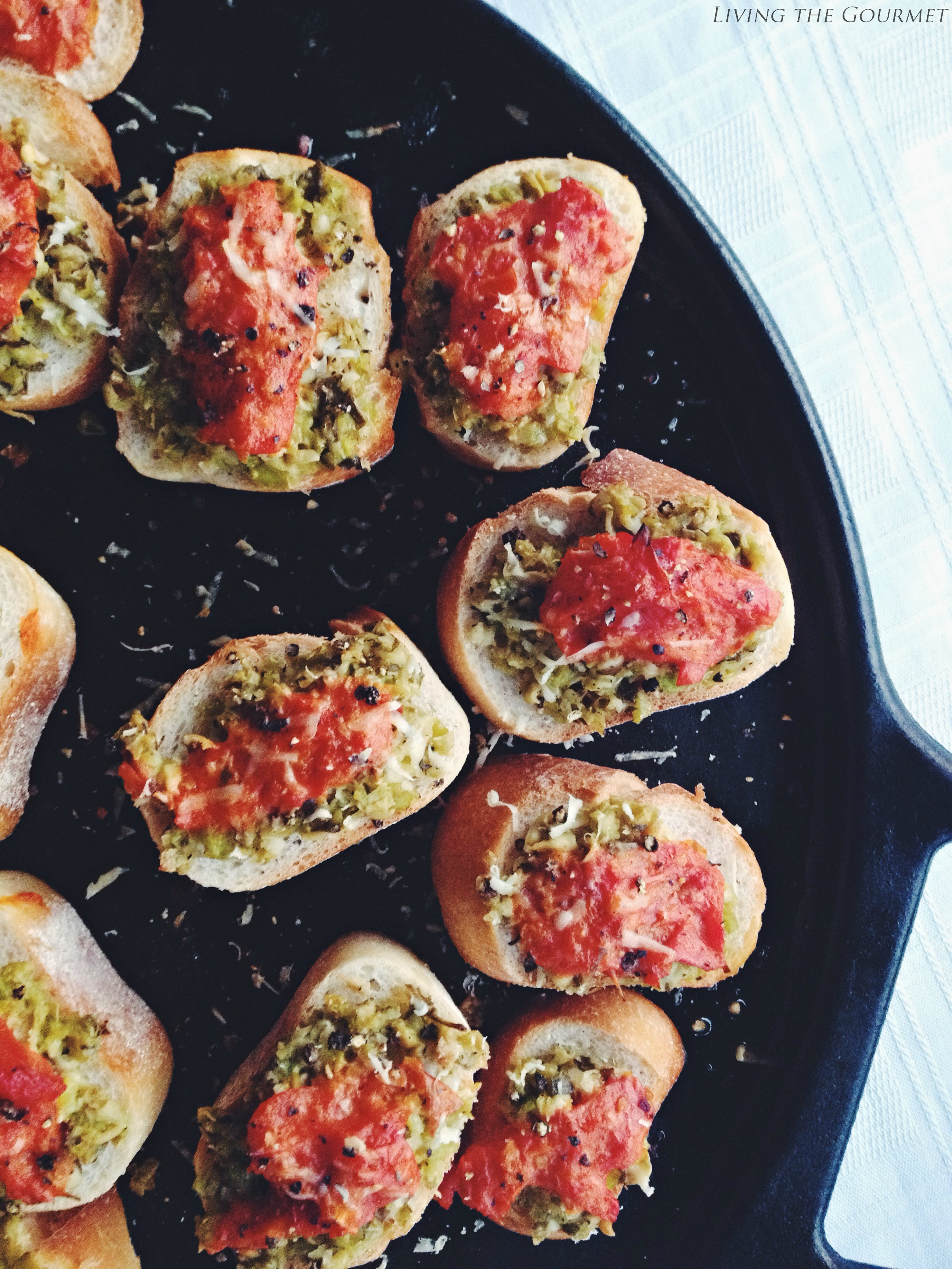Living the Gourmet: Fava Bean and Tomato Crostini
