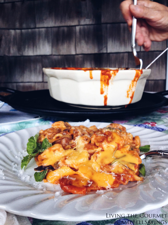 Living the Gourmet: Spaghetti O's Mac & Cheese Lasagna | #CampbellSavings #ad