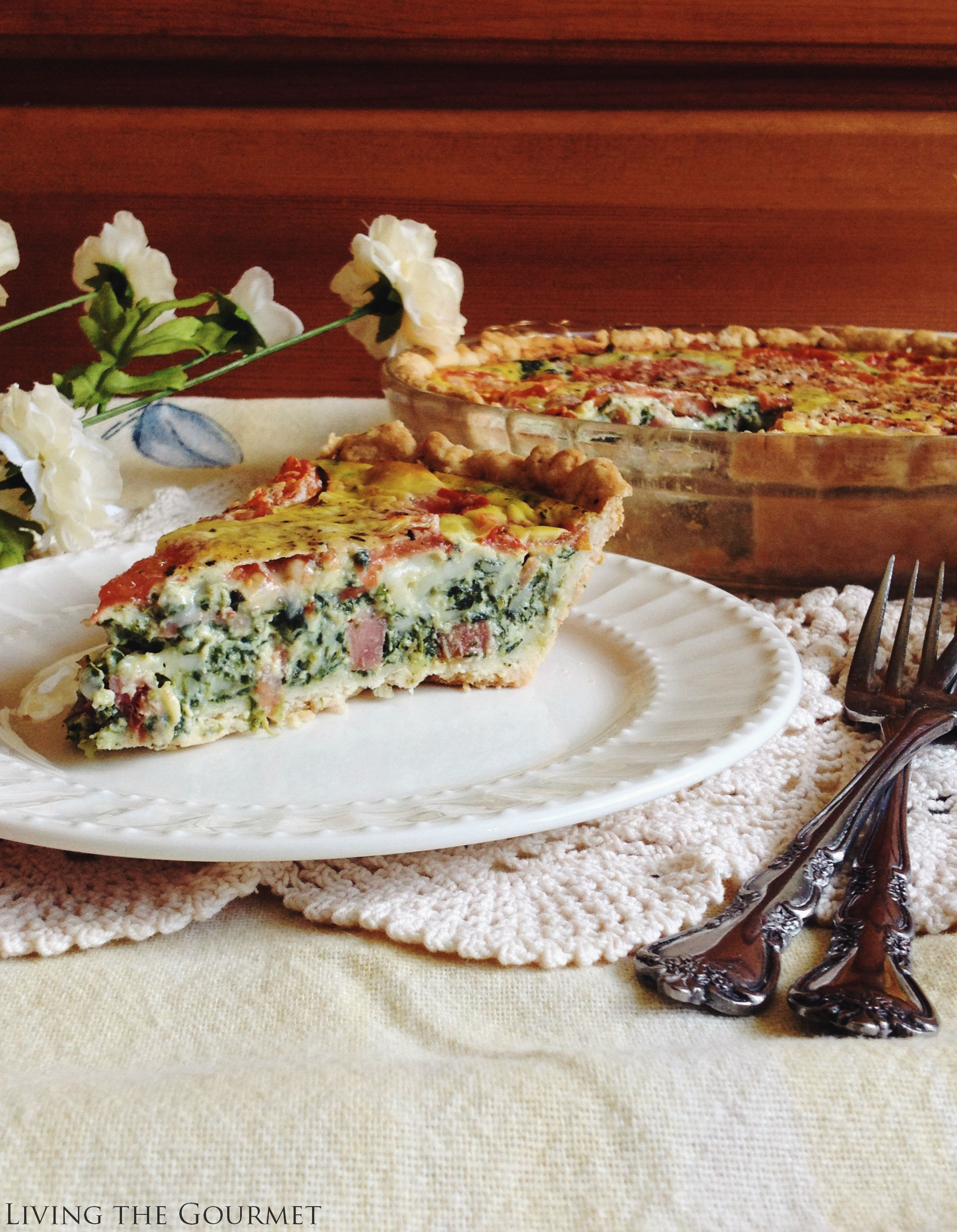 Living the Gourmet: Quiche Lorraine with Speck Ham