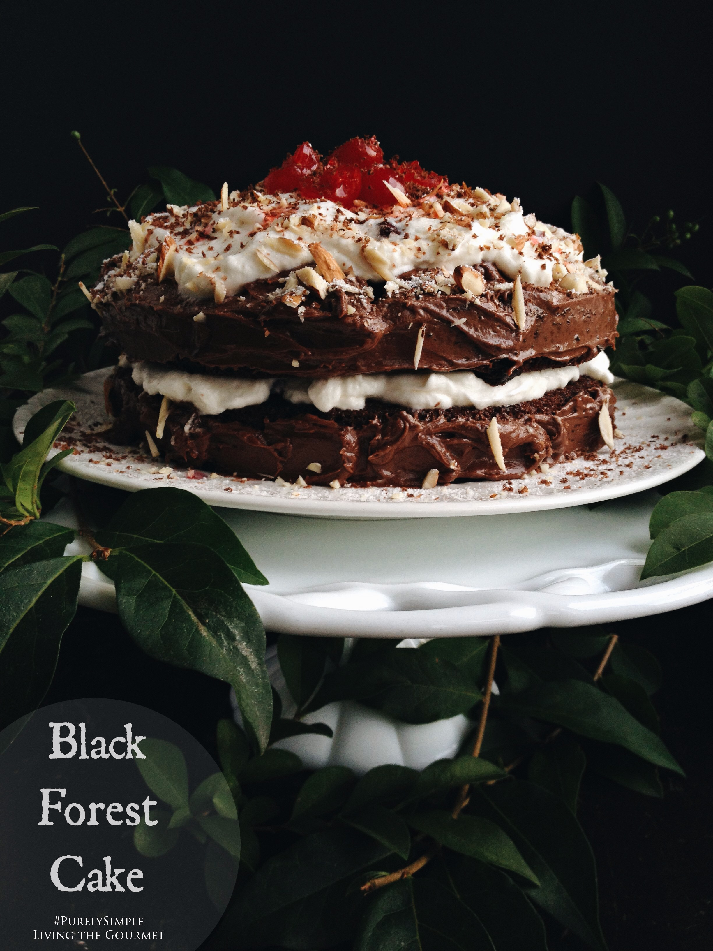 Living the Gourmet: Black Forest Cake | #PurelySimple #Ad