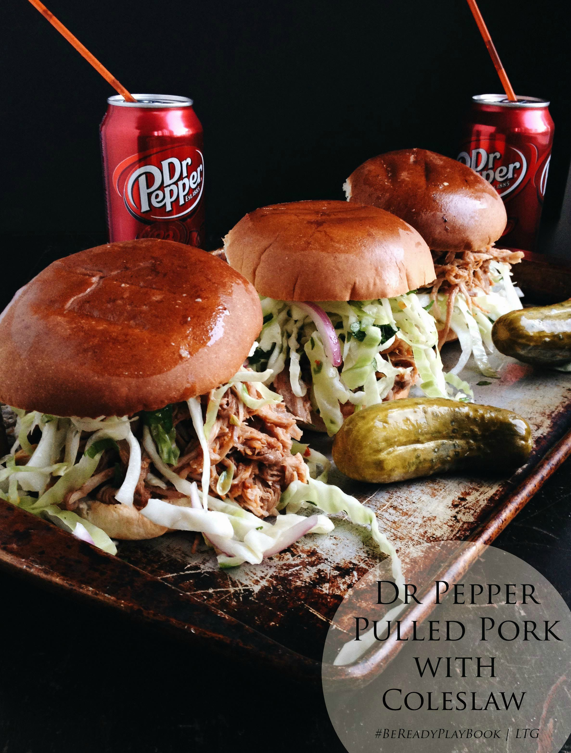 Living the Gourmet: Dr Pepper Pulled Pork Sandwiches | #BeReadyPlayBook #ad