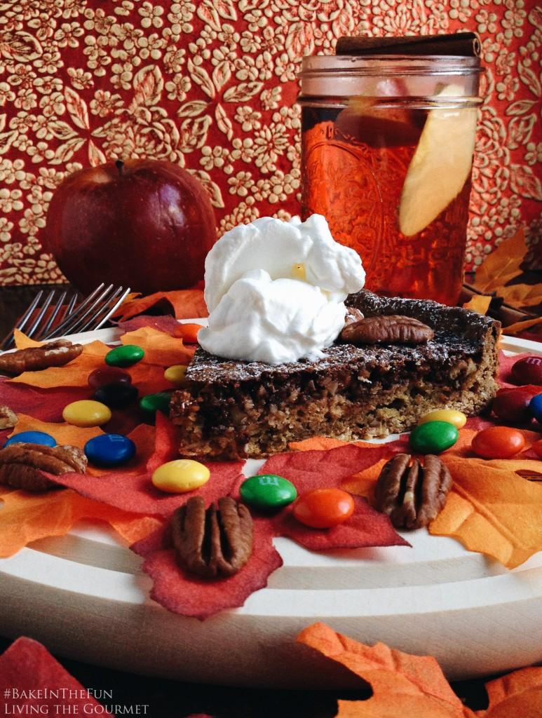 Living the Gourmet: Chocolate Pecan Pie & Spiced Apple Juice | #BakeInTheFun  #Ad