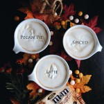 Pecan Pie Spiced Latte with Harvest Stick Cookies