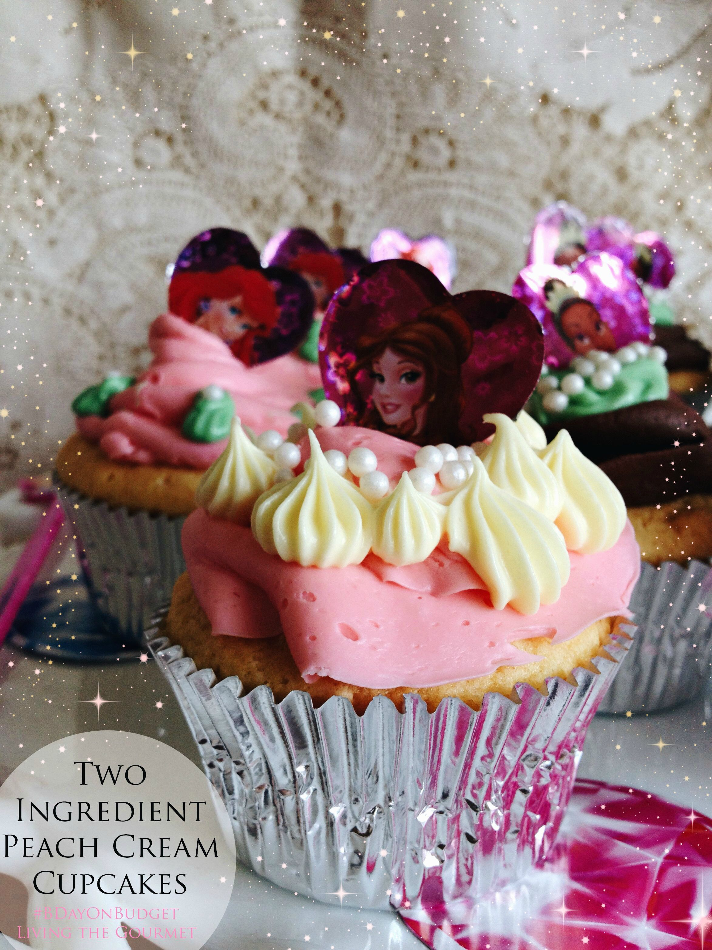 Living the Gourmet: Two Ingredient Party Cupcakes | #BDayOnBudget #Ad