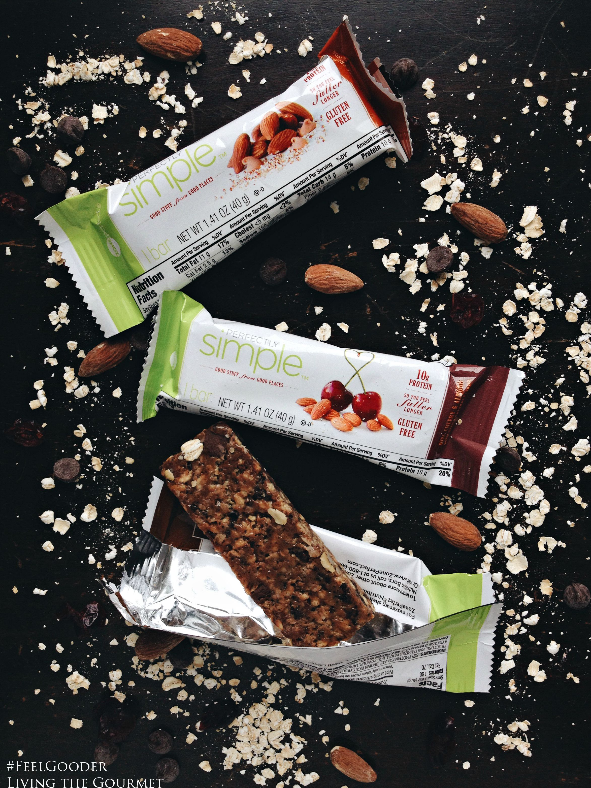 Living the Gourmet: #FeelGooder with ZonePerfect Perfectly Simple nutrition bars