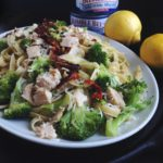 Broccoli and Tuna Fettuccine