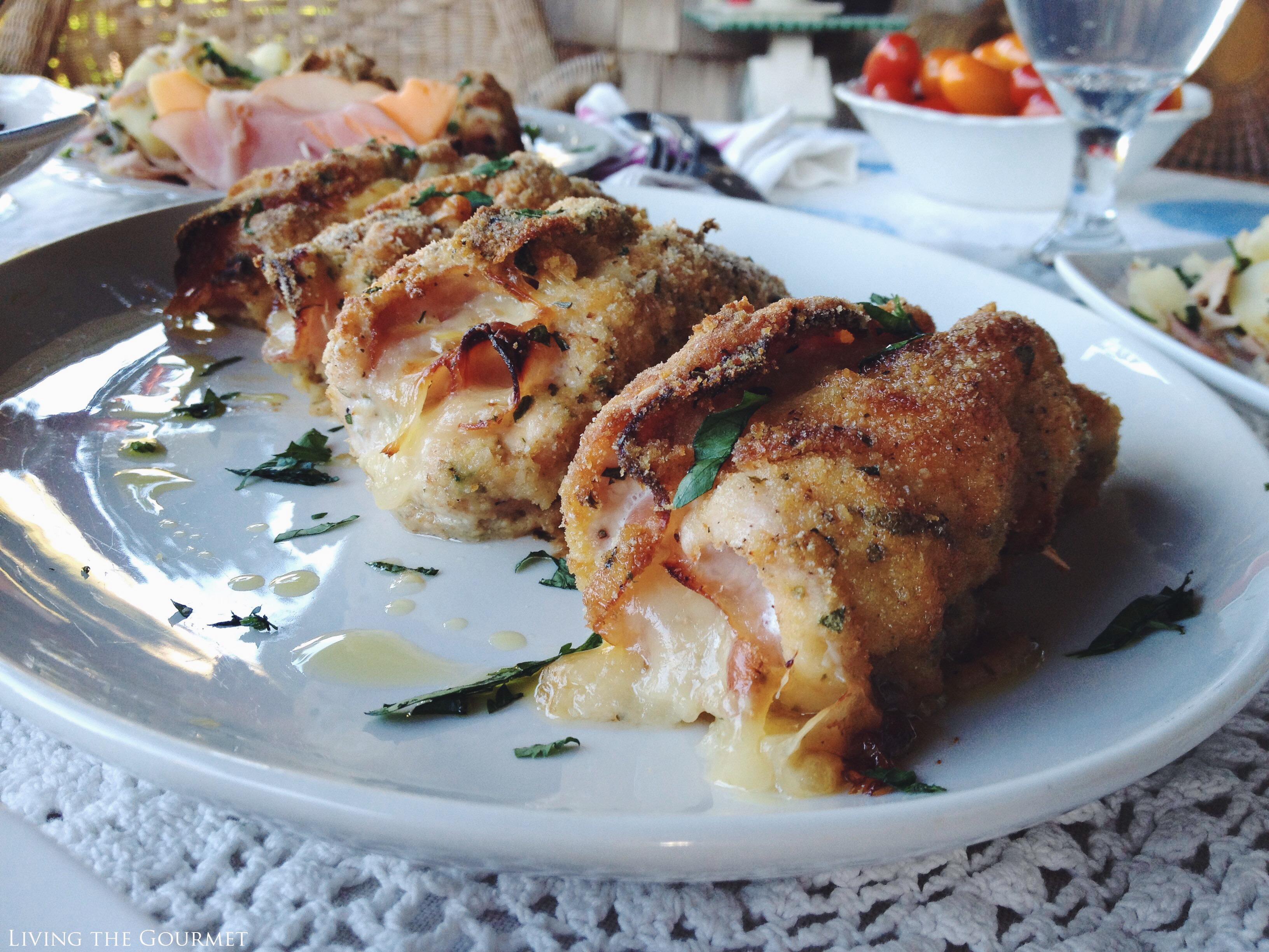 Living the Gourmet: Chicken Cordon Bleu | #BHSmokeHouseRules