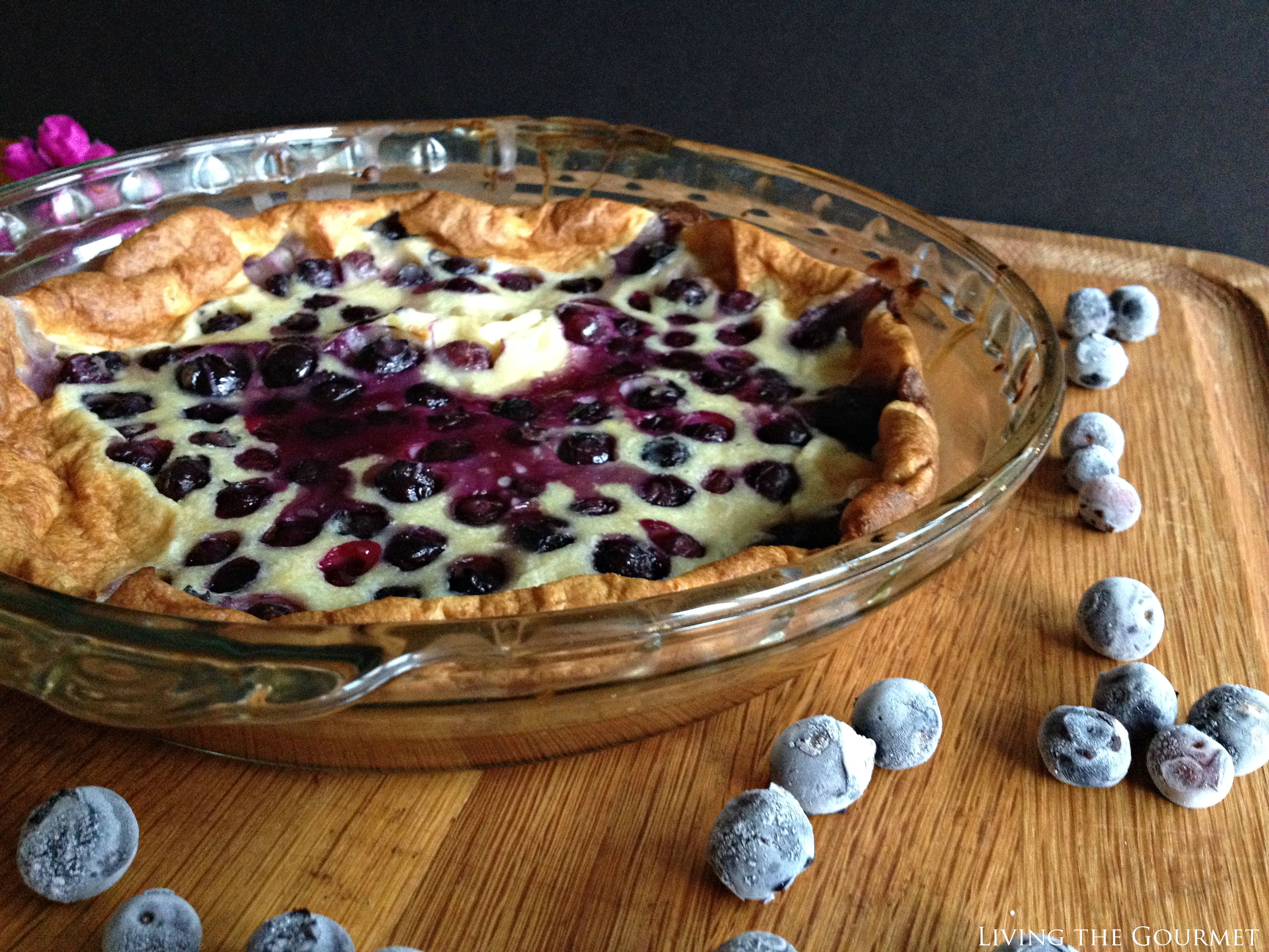 Living the Gourmet: Blueberry Clafoutis