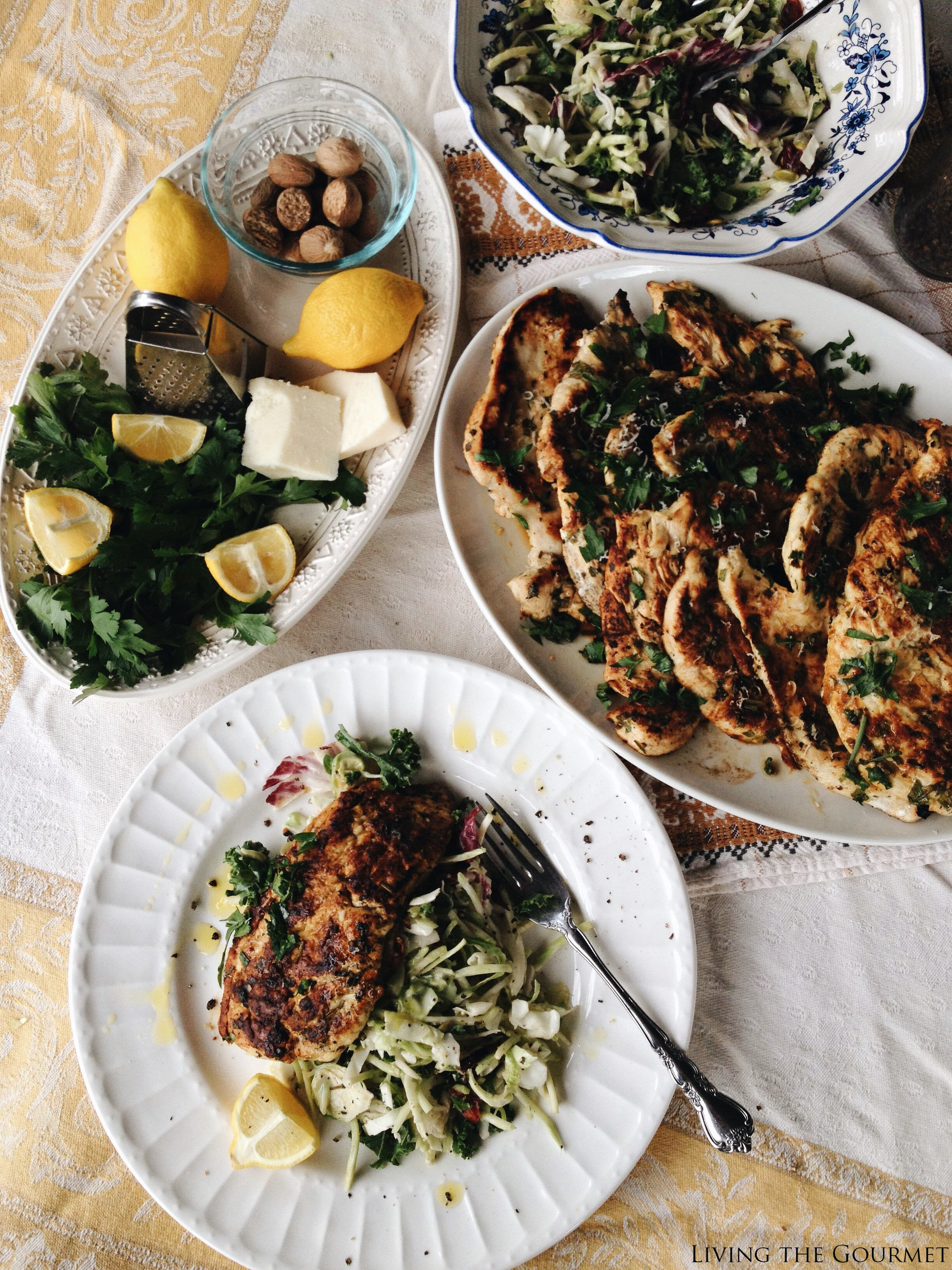 Living the Gourmet: Sweet Kale Salad and Grilled Lemon Chicken | #EatSmartVeggies