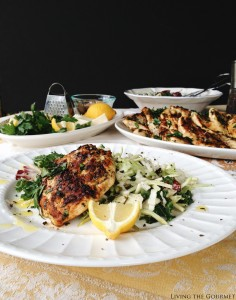 Sweet Kale Salad and Grilled Lemon Chicken