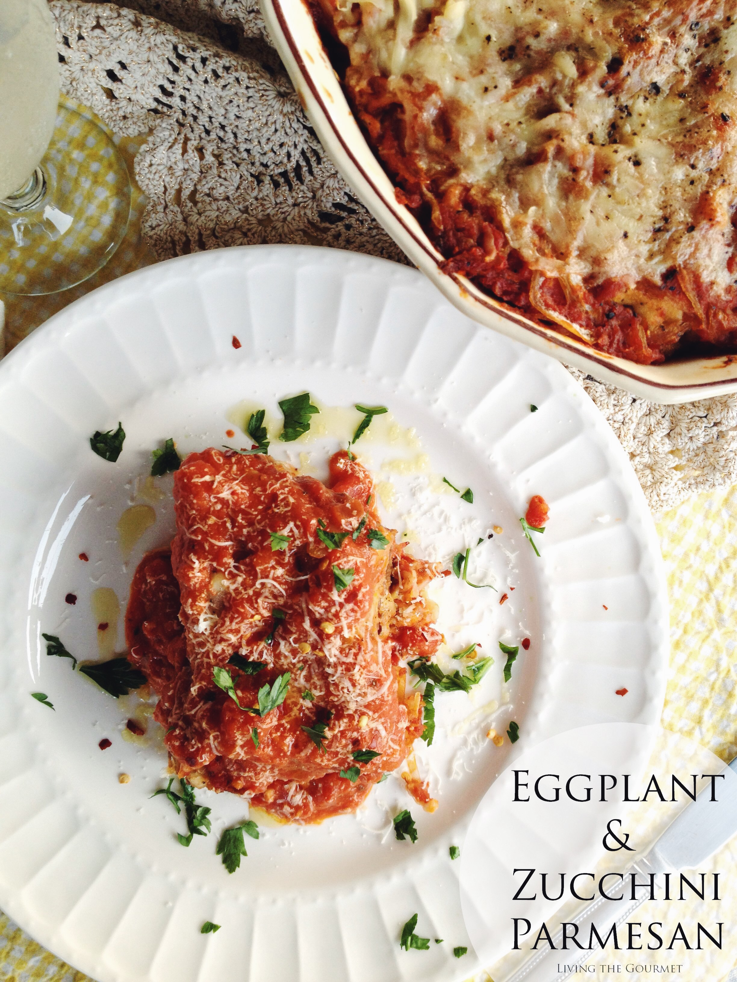 Living the Gourmet: Eggplant and Zucchini Parmesan PLUS $50 VISA Giveaway | #FallForFlavor #Ad