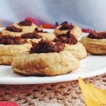 Snickerdoodle Pumpkin Thumbprint Cookies