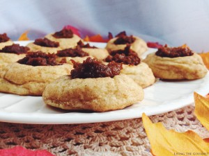 Snickerdoodle Pumpkin Thumbprint Cookies