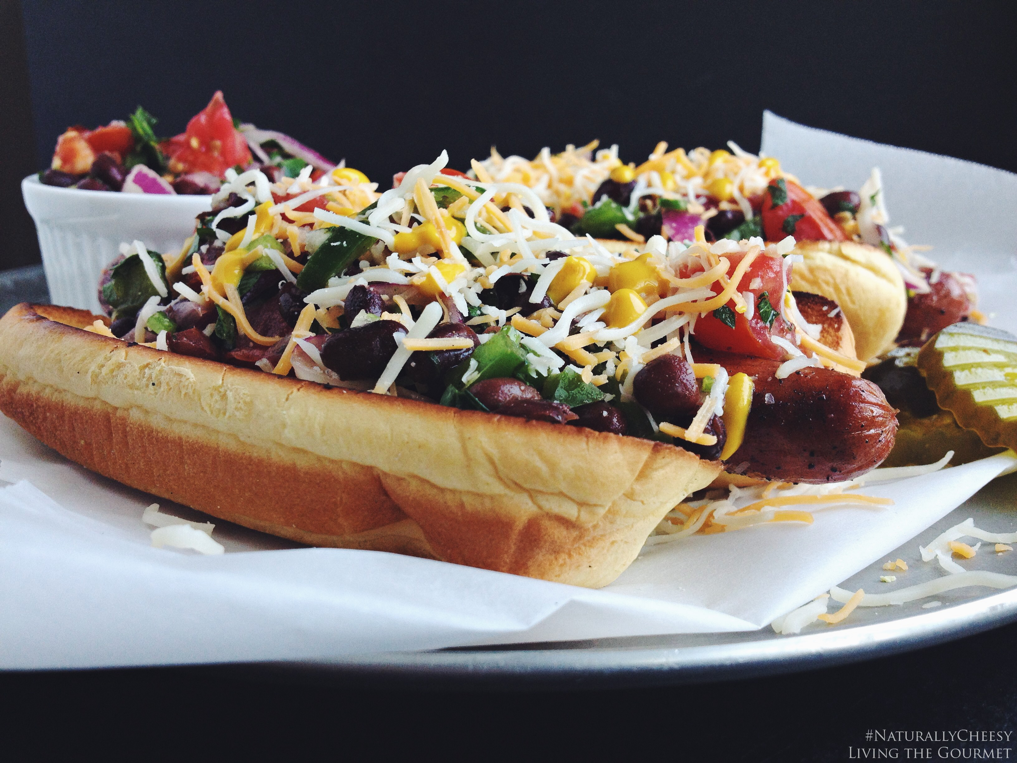 Living the Gourmet: Southwest Style Hotdogs | #NaturallyCheesy #ad