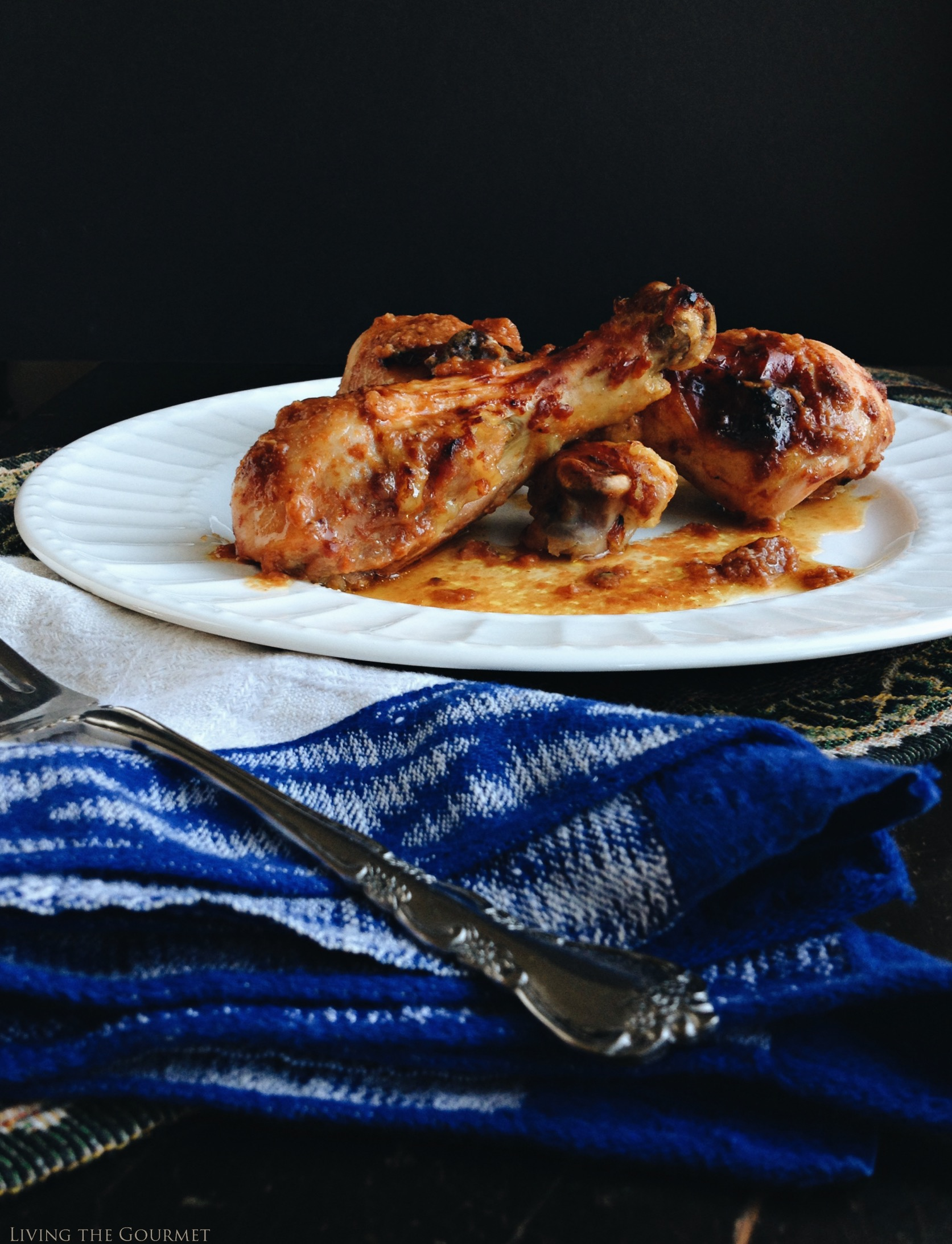 Living the Gourmet: Baked BBQ Chicken Legs