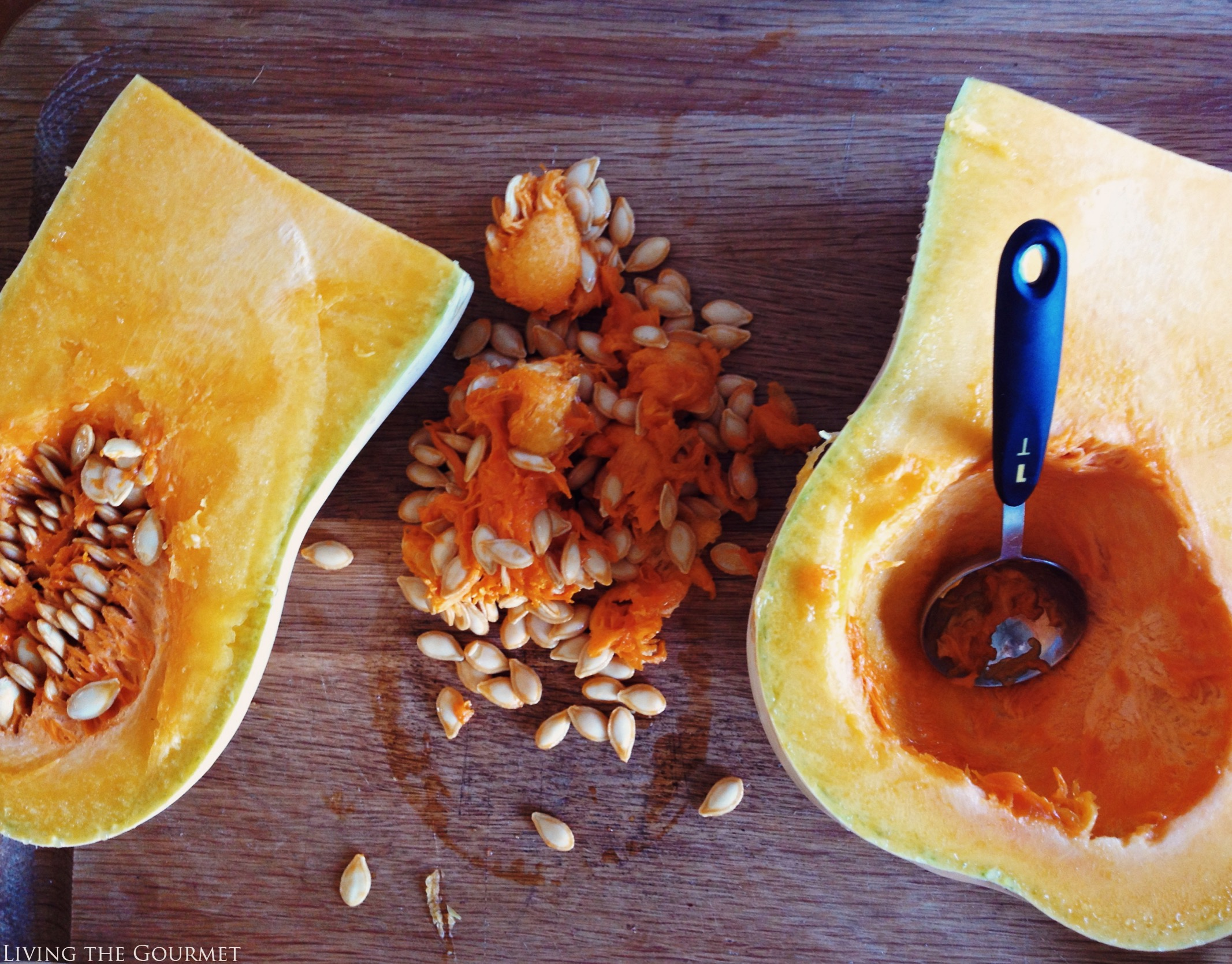 Living the Gourmet: Cinnamon Maple Gold Roasted Butternut Squash