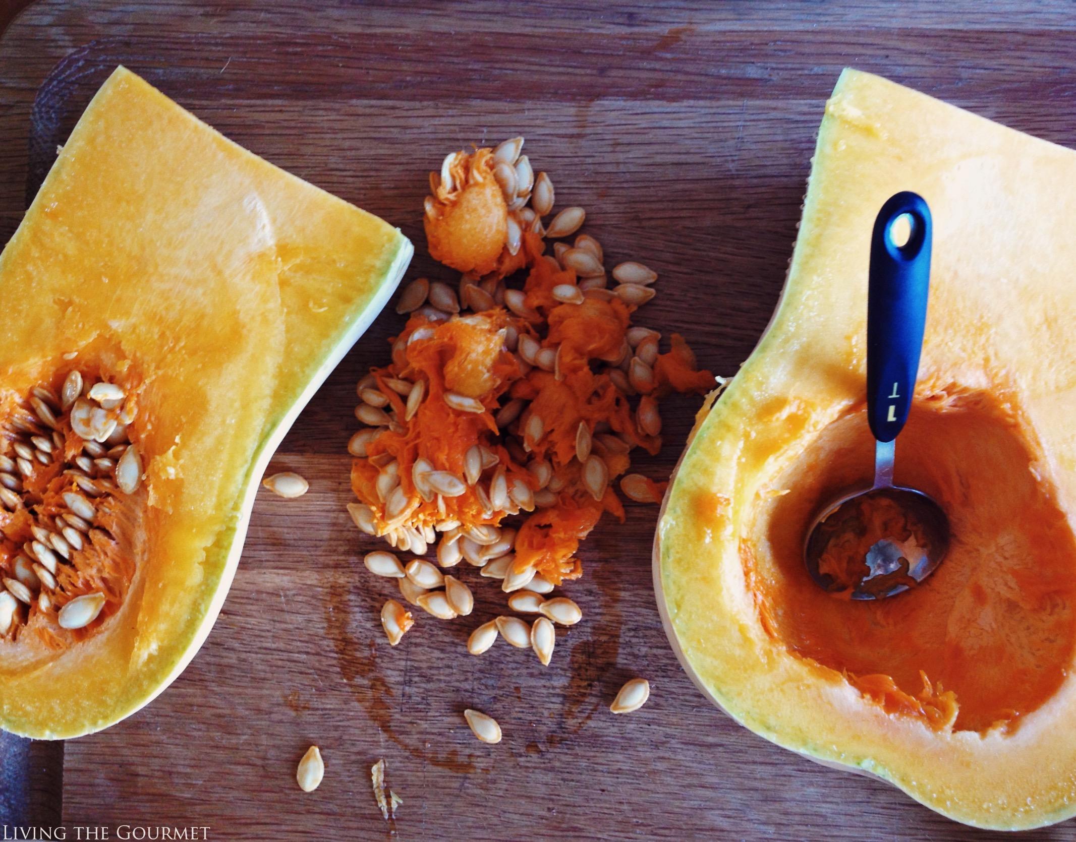Living the Gourmet: Cinnamon Maple Gold Roasted Butternut Squash