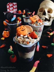 Layered Halloween Pudding Cups