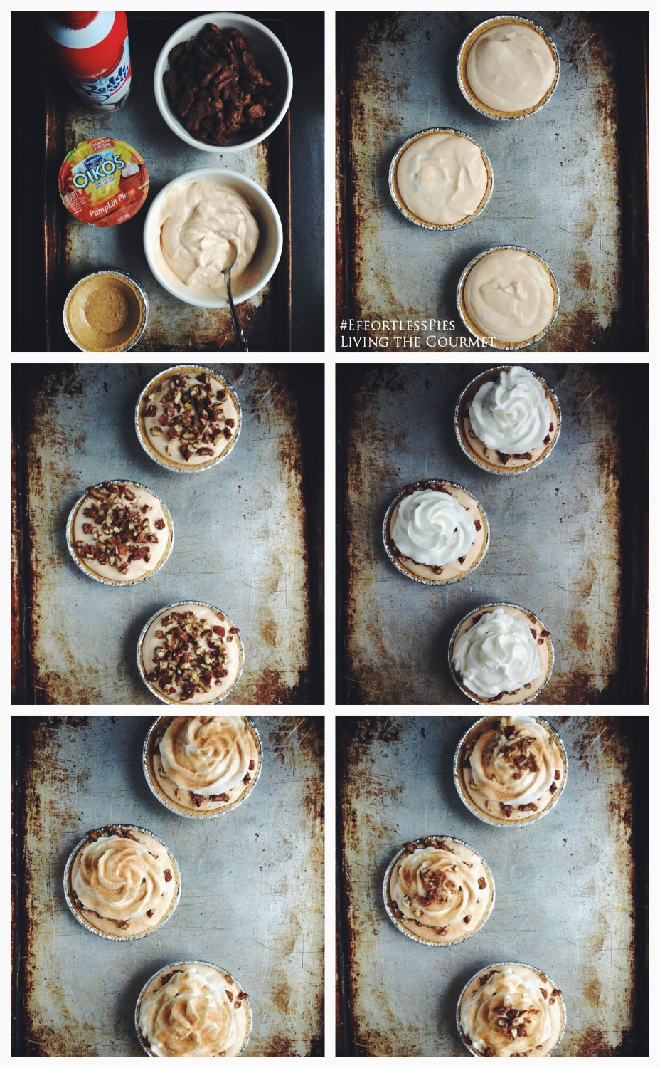 Living the Gourmet: No-Bake Pumpkin Cream Mini Pies