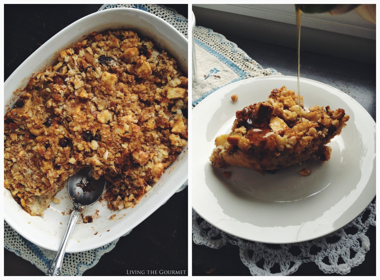 Living the Gourmet: Apple Raisin Bread Pudding