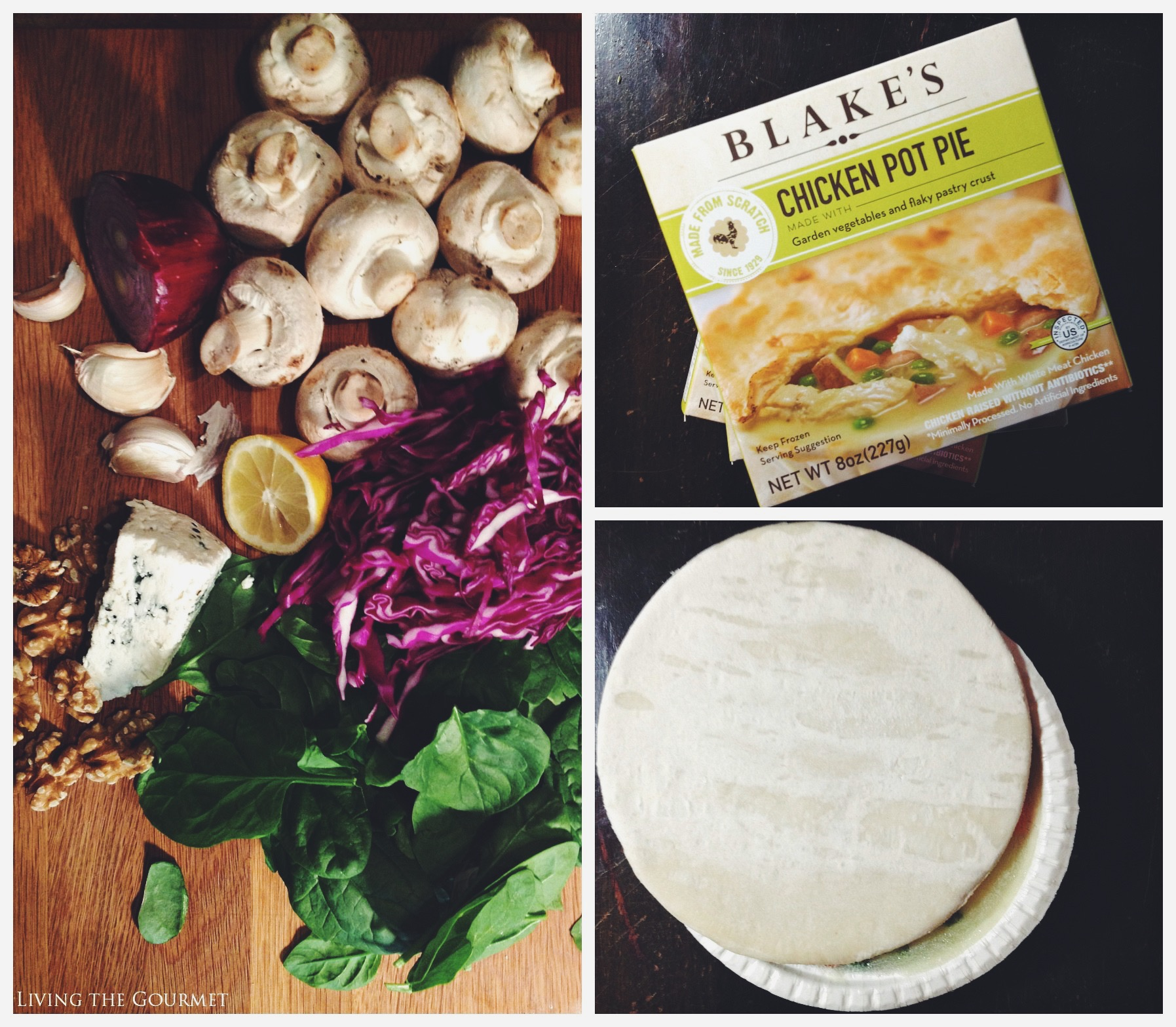 Living the Gourmet: Chicken Pot Pie and Honey Mustard Spinach Salad | #BlakesAllNatural AD