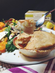 Chicken Pot Pie and Honey Mustard Spinach Salad