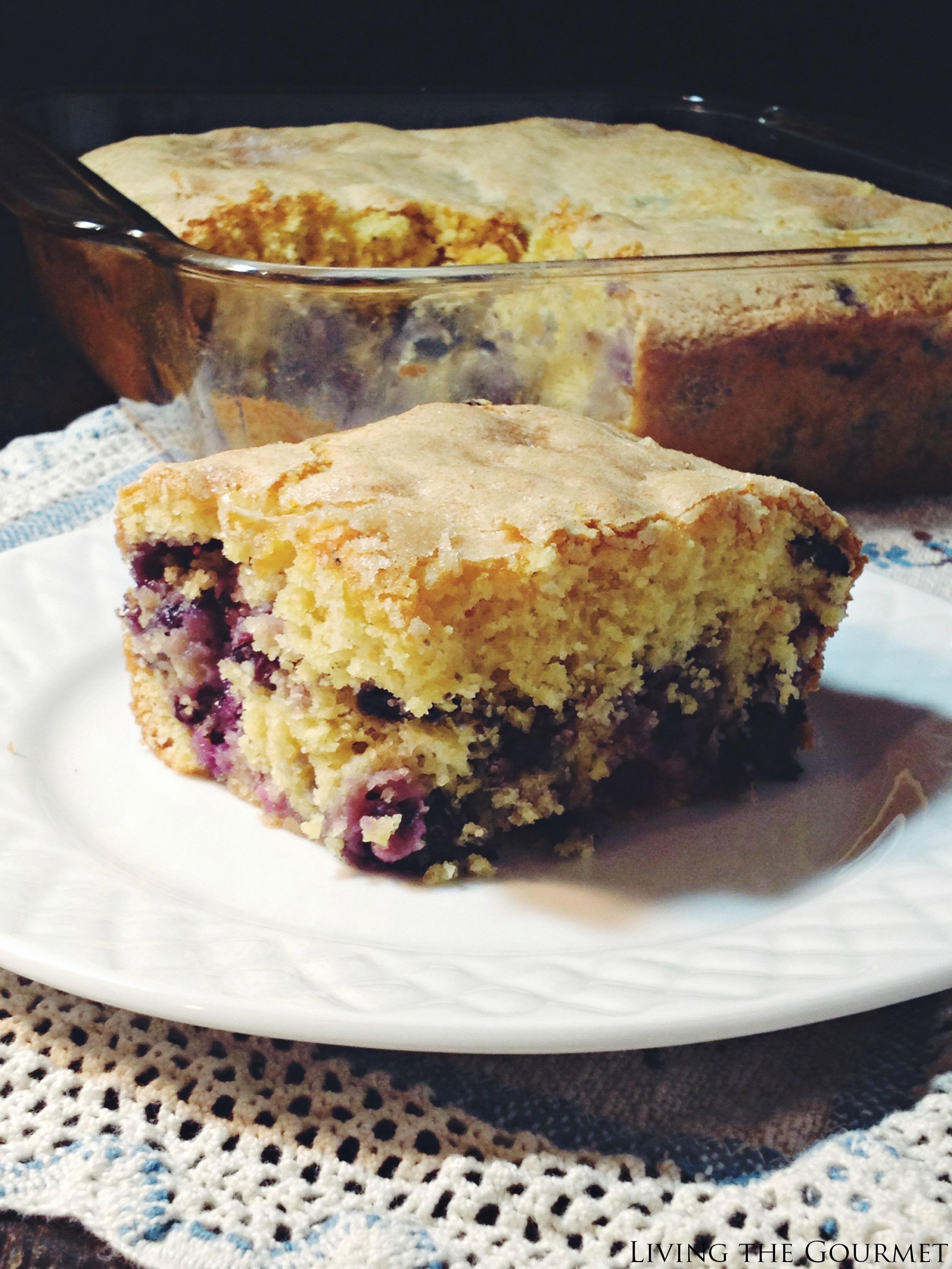 Living the Gourmet: Buttermilk Blueberry Breakfast Cake
