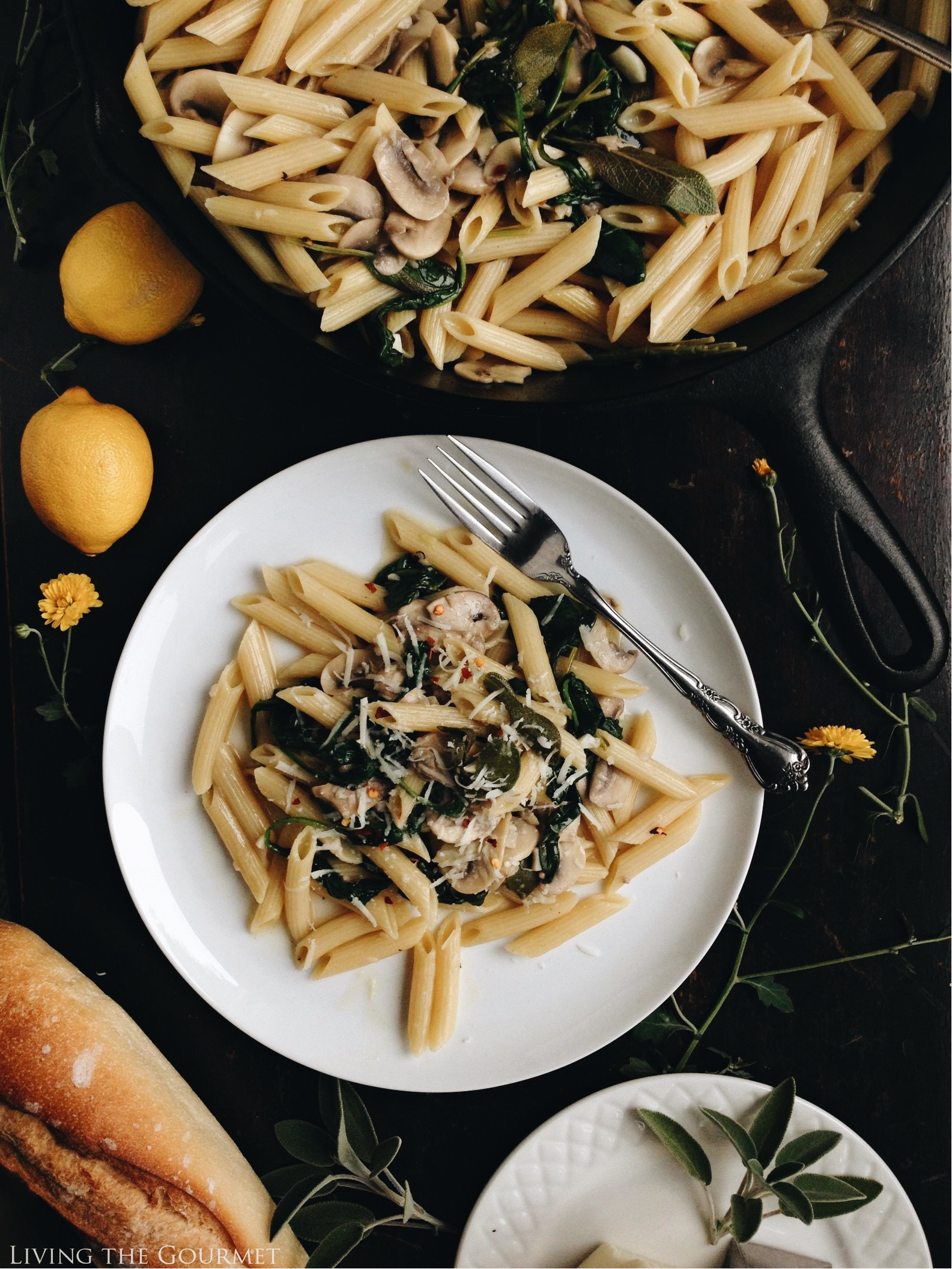 @livingthegourmet's cover photo for 'One-Pan Brown Butter and Sage Pasta - Living The Gourmet'
