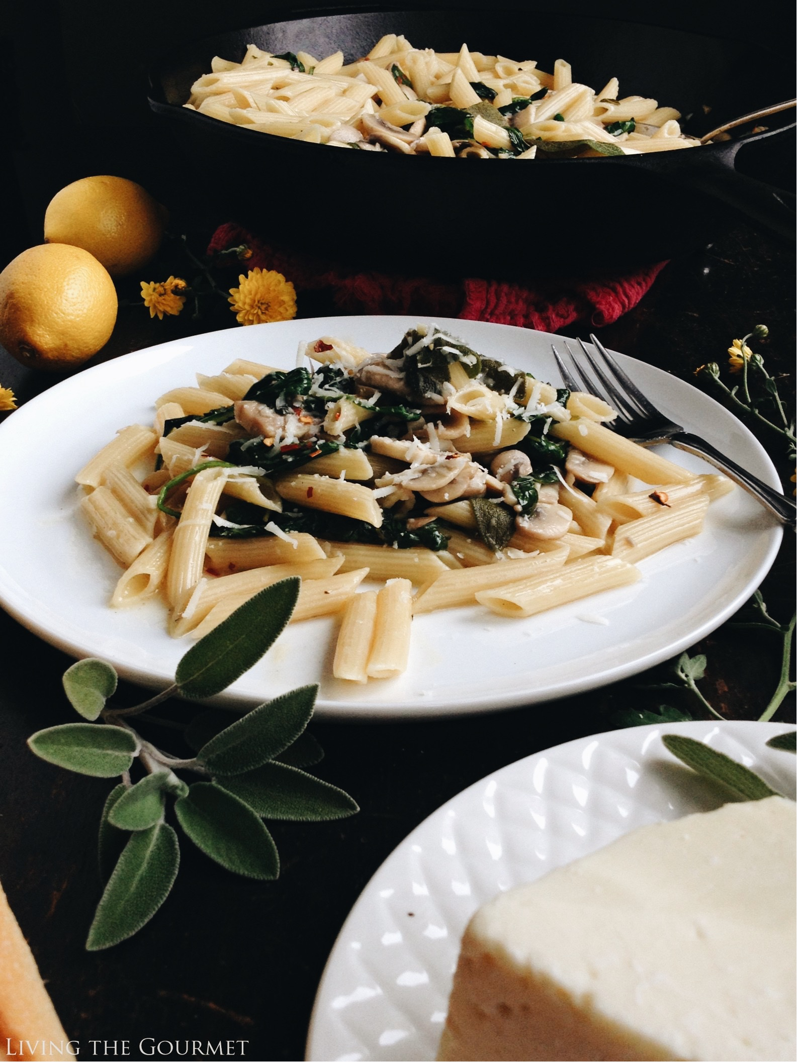 Living the Gourmet: One-Pan Brown Butter and Sage Pasta | #AnytimePasta #Pmedia #ad