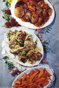 Marinated Turkey Breast with Grilled Pineapple & Yam Fries