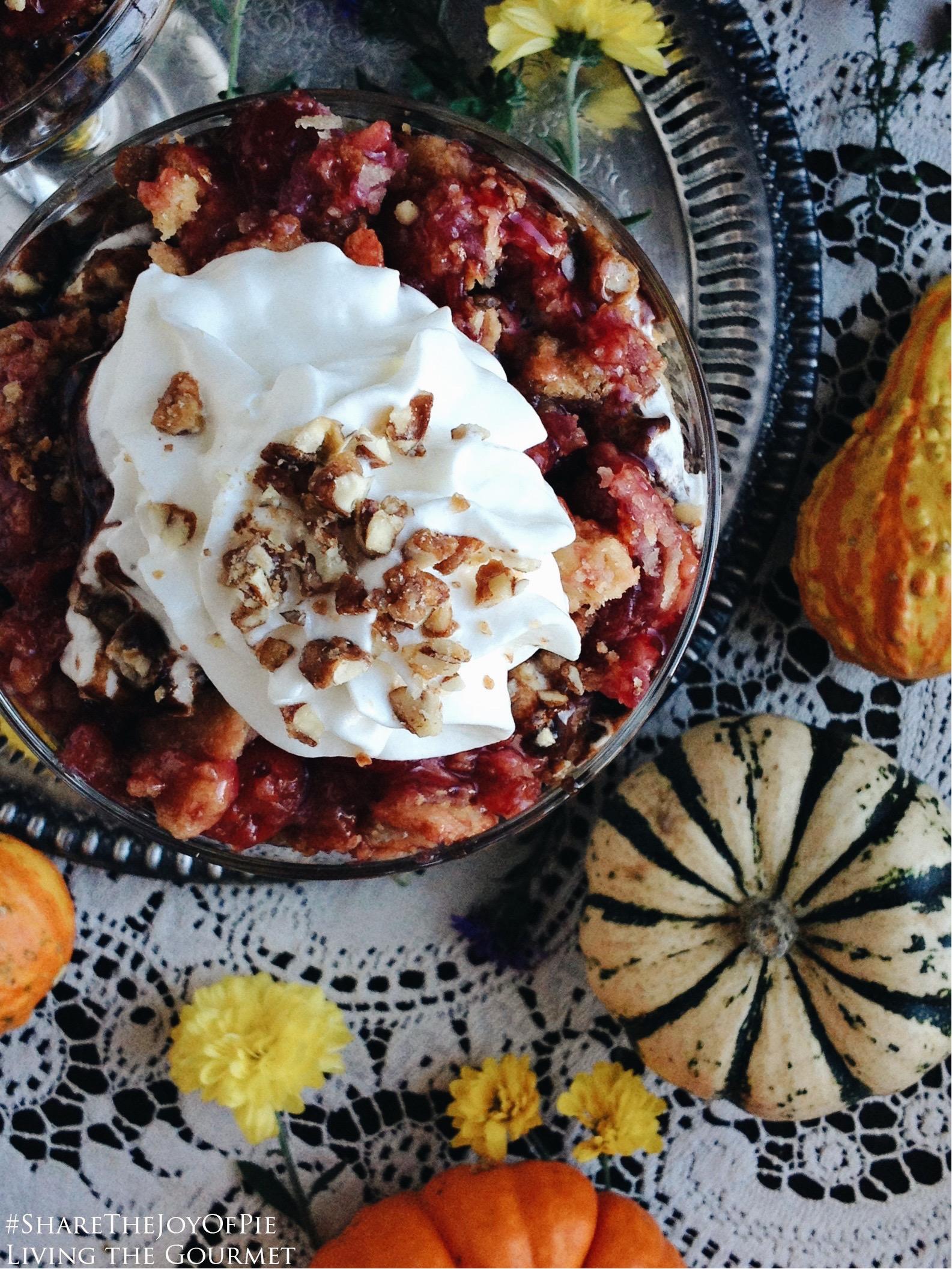 Living the Gourmet: Individual Layered Pie Trifles | #ShareTheJoyOfPie AD