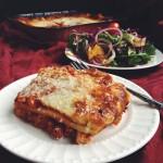 Lasagna & Arugula Citrus Salad