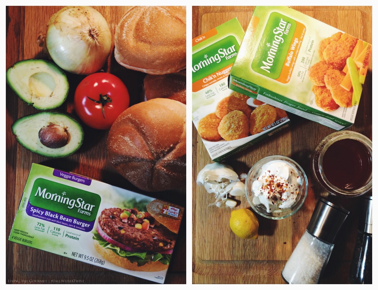 Living the Gourmet: Black Bean Veggie Burgers and Spicy Dipping Sauce   #FallWithATwist AD